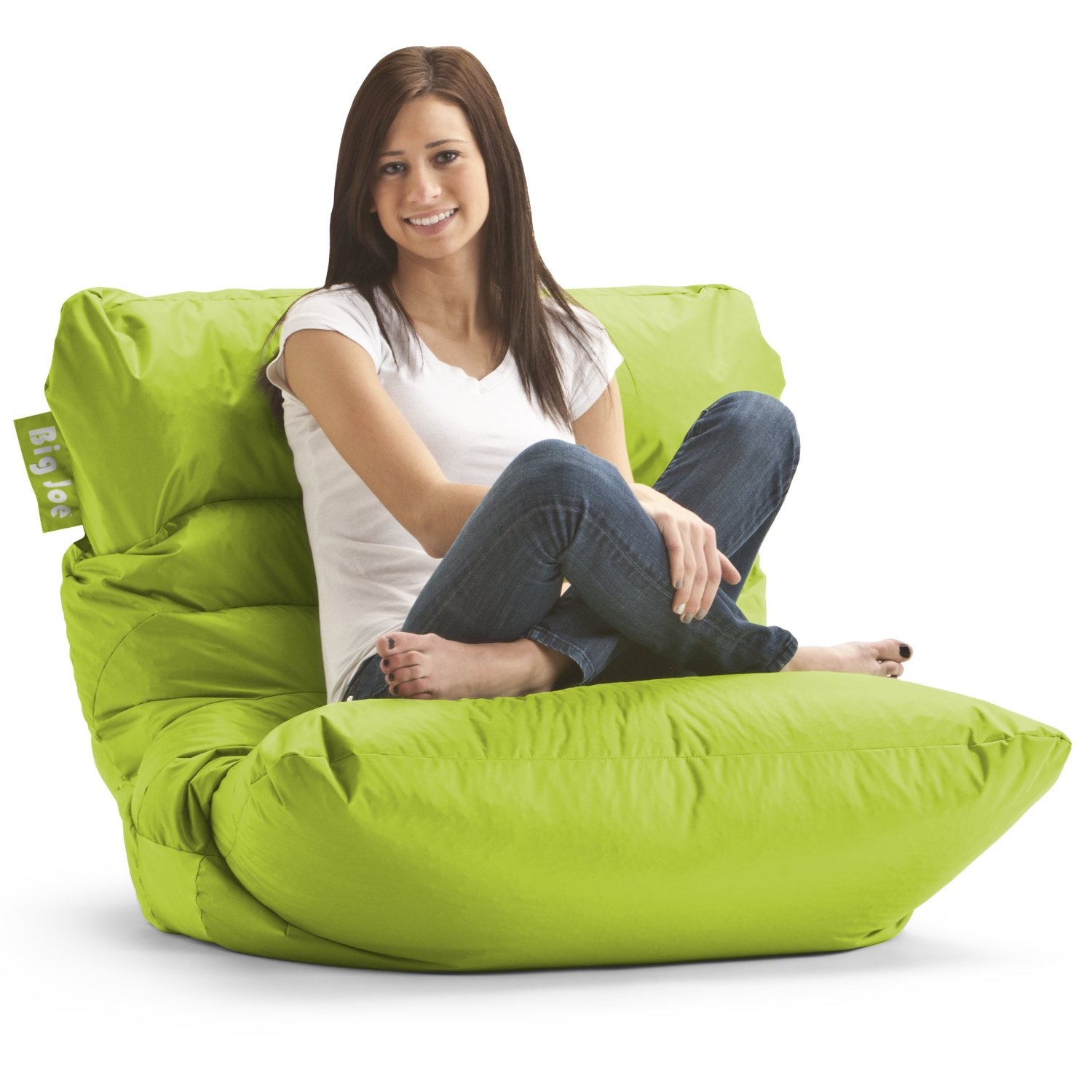 Amazon.com - Big Joe Roma Bean Bag Chair, Spicy Lime - Beanbag ...