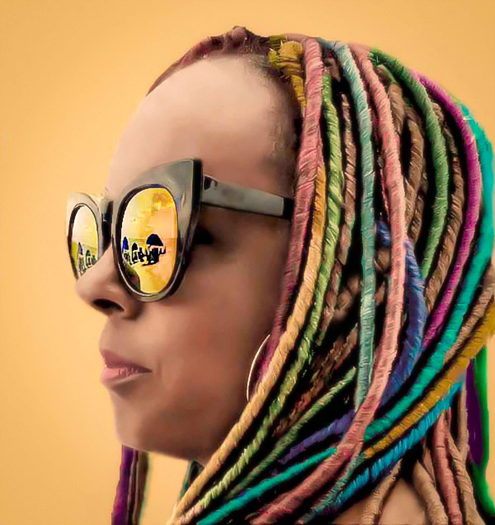 Woman wearing sunglasses photo