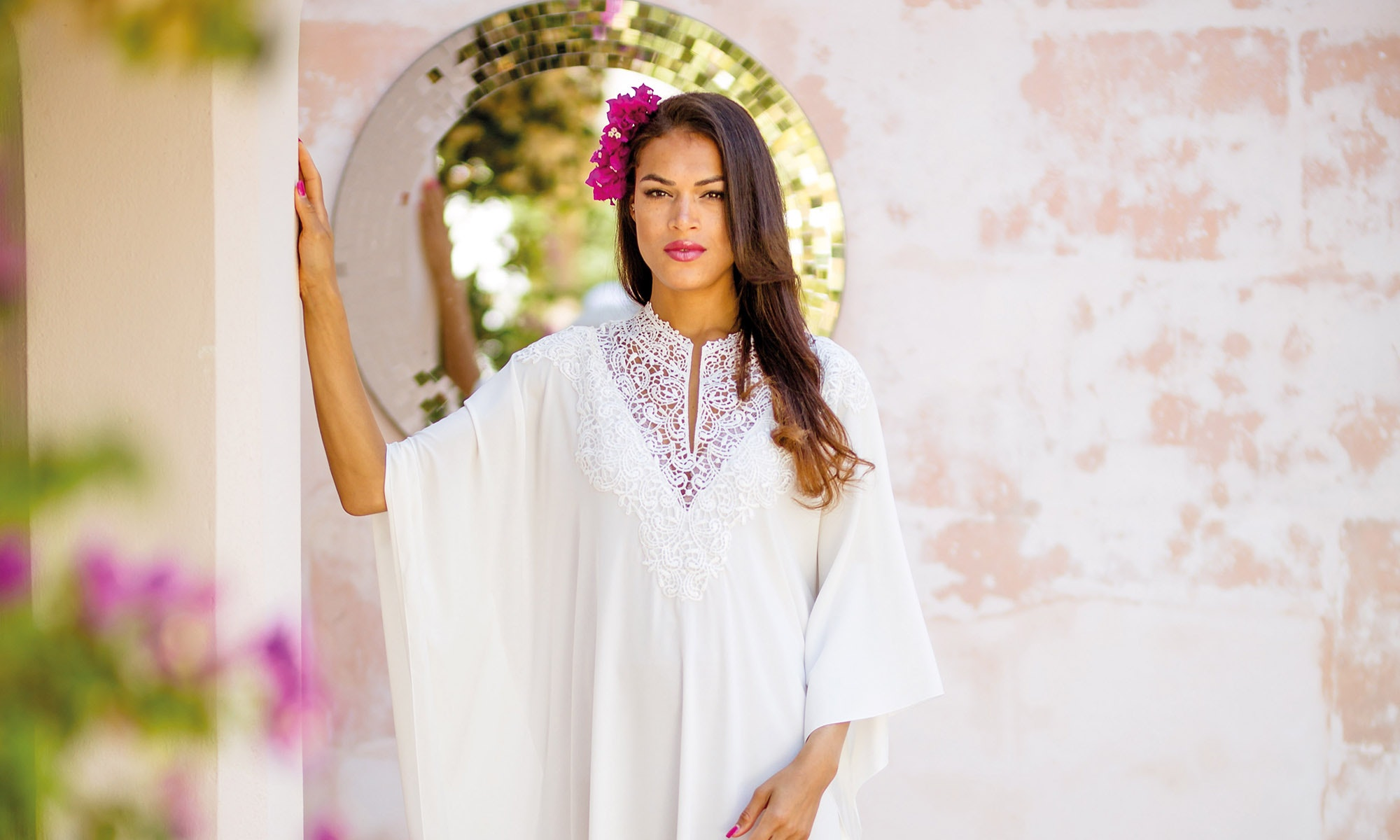 Woman wearing white dress photo
