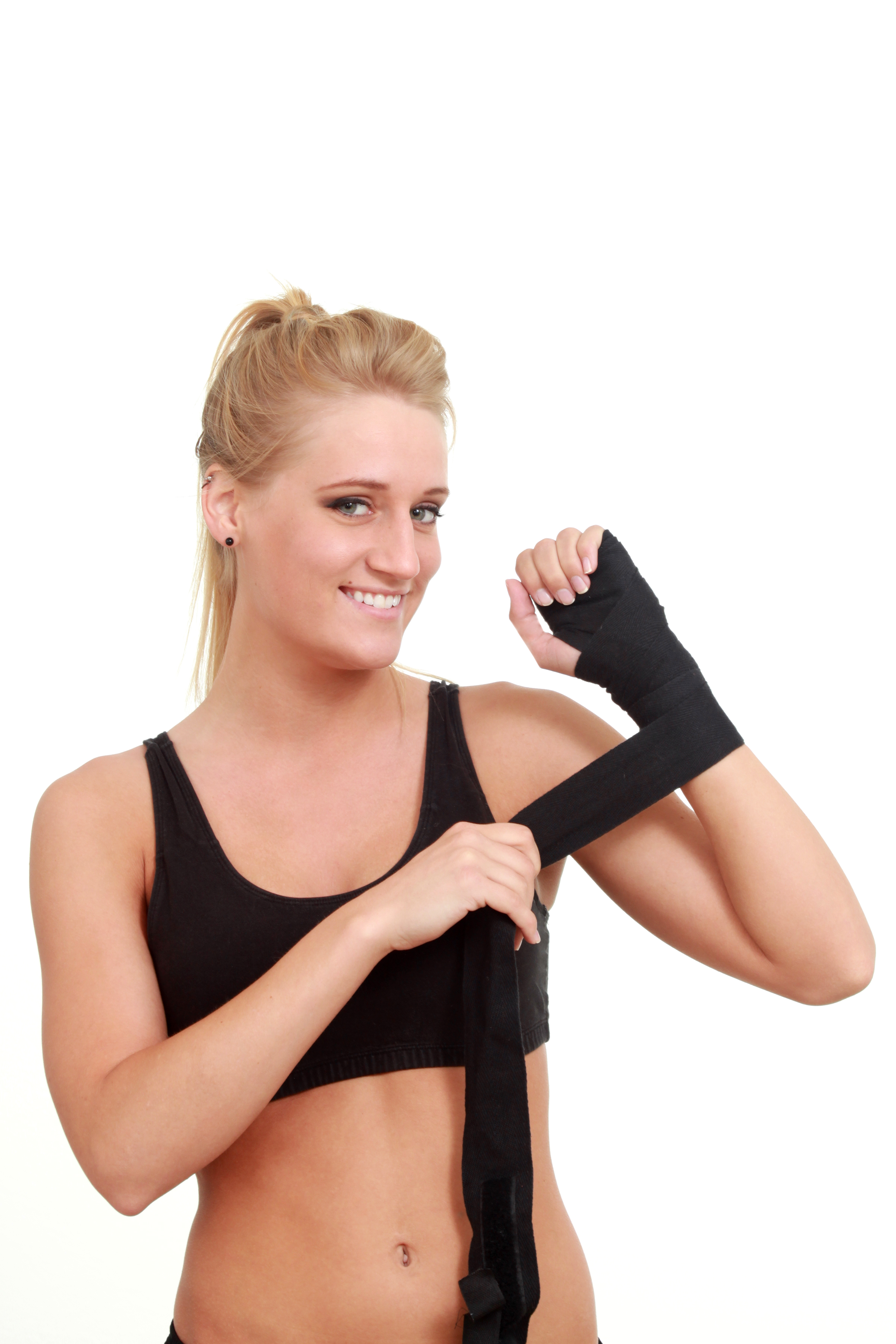 Woman wrapping her hands for a wrestling, Athletic, Match, Wrestler, Wrap, HQ Photo
