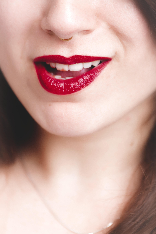 Woman's lip photo