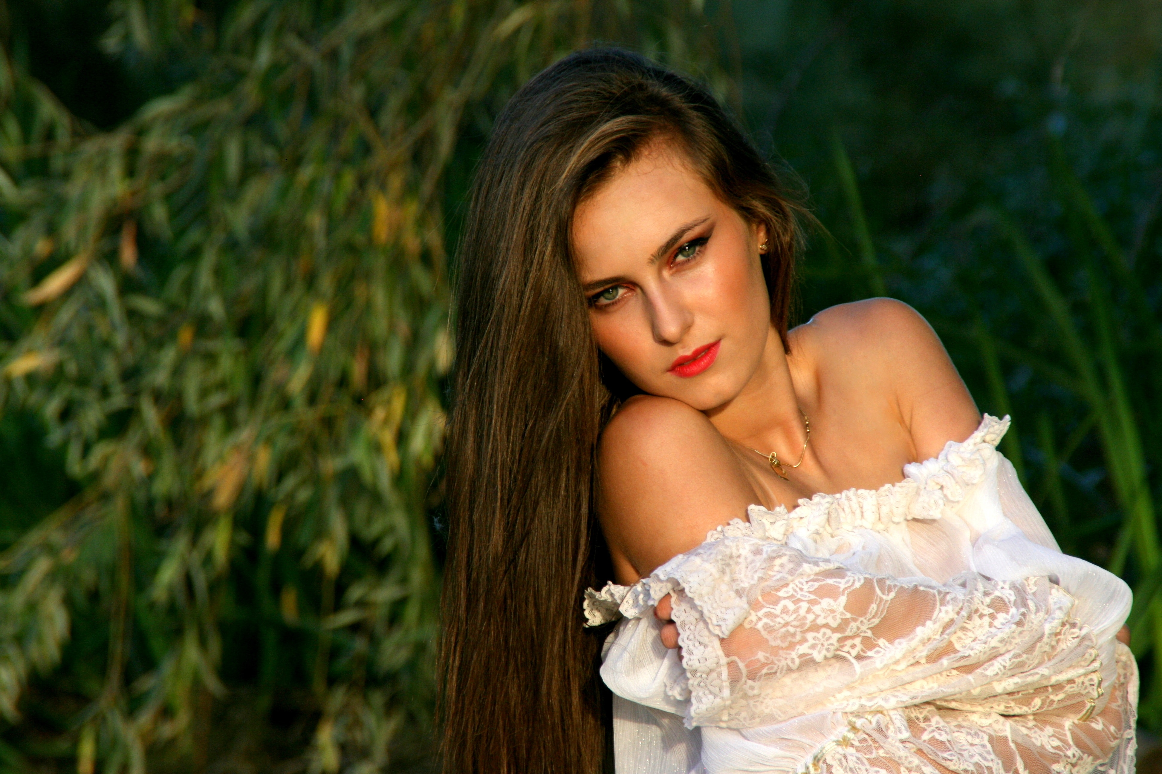 Woman's Portrait during Daytime, Beautiful, Female, Girl, Model, HQ Photo