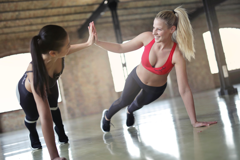 Women exercising photo