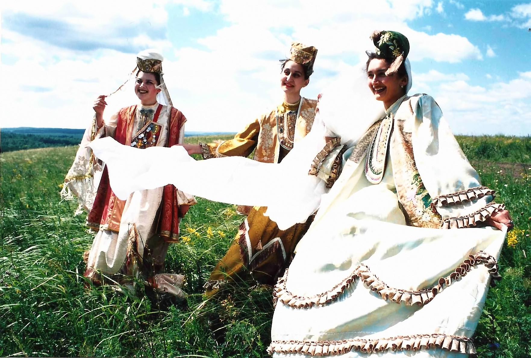 Women in traditional clothing photo