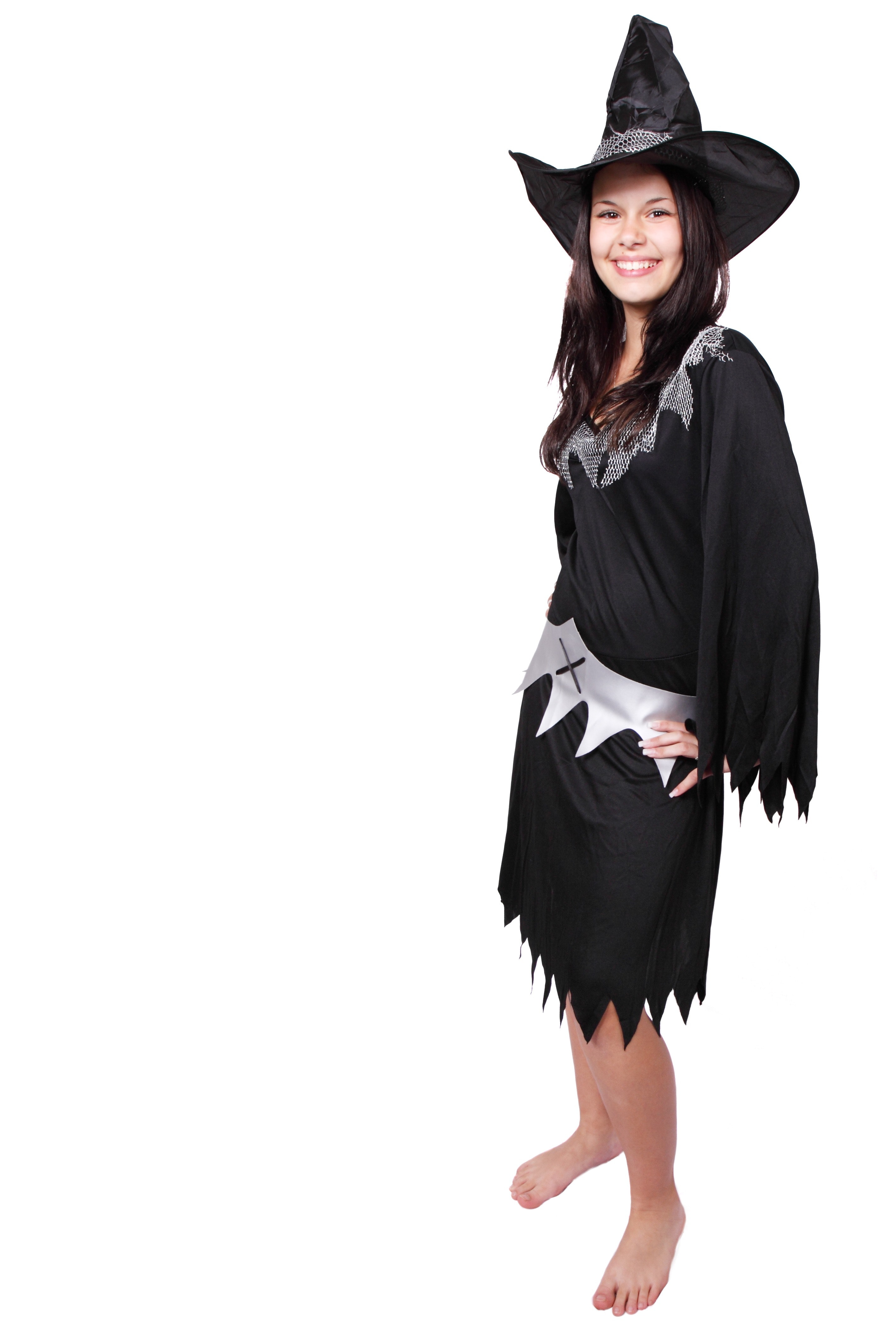 Women in witch costume photo