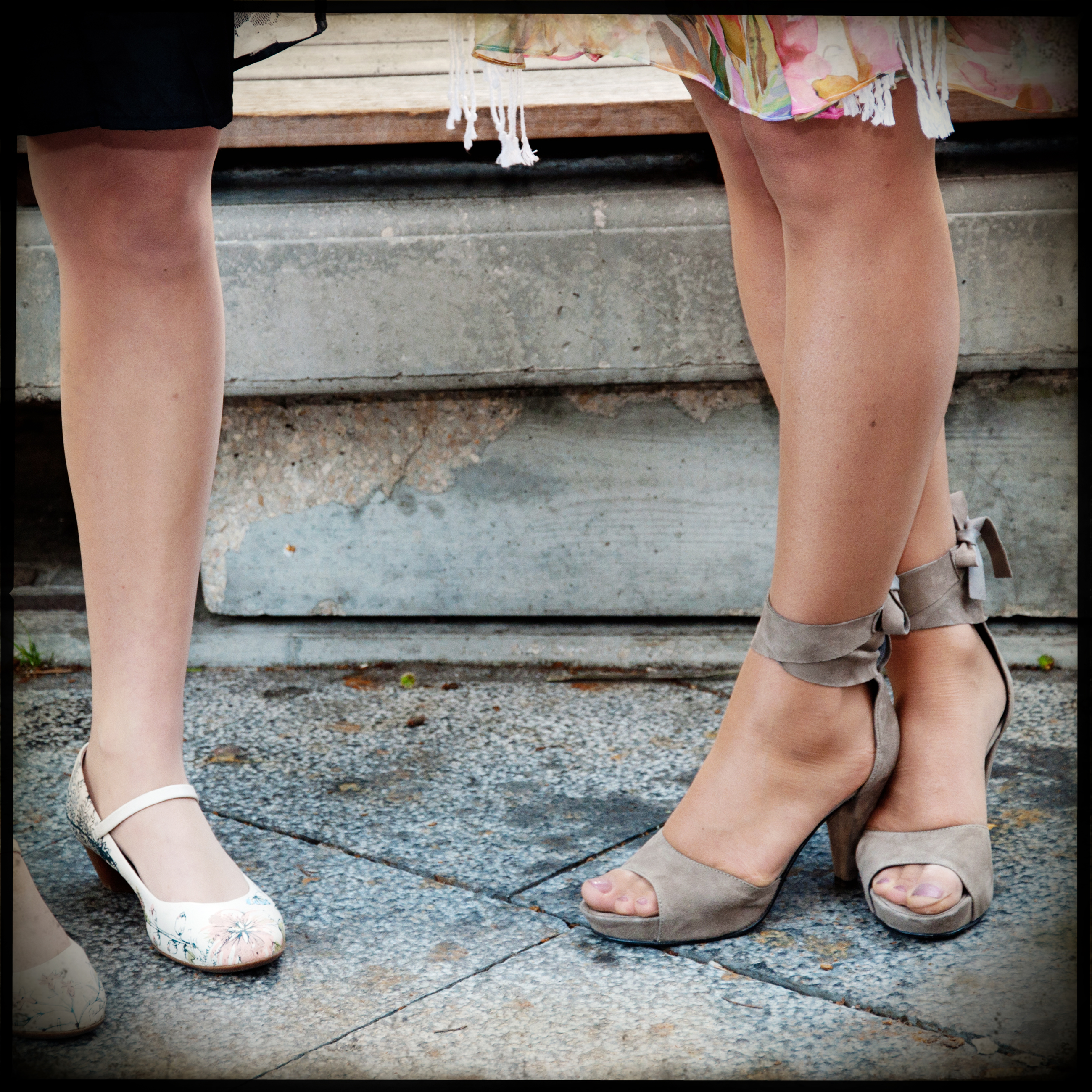 Women legs and heels shoes photo