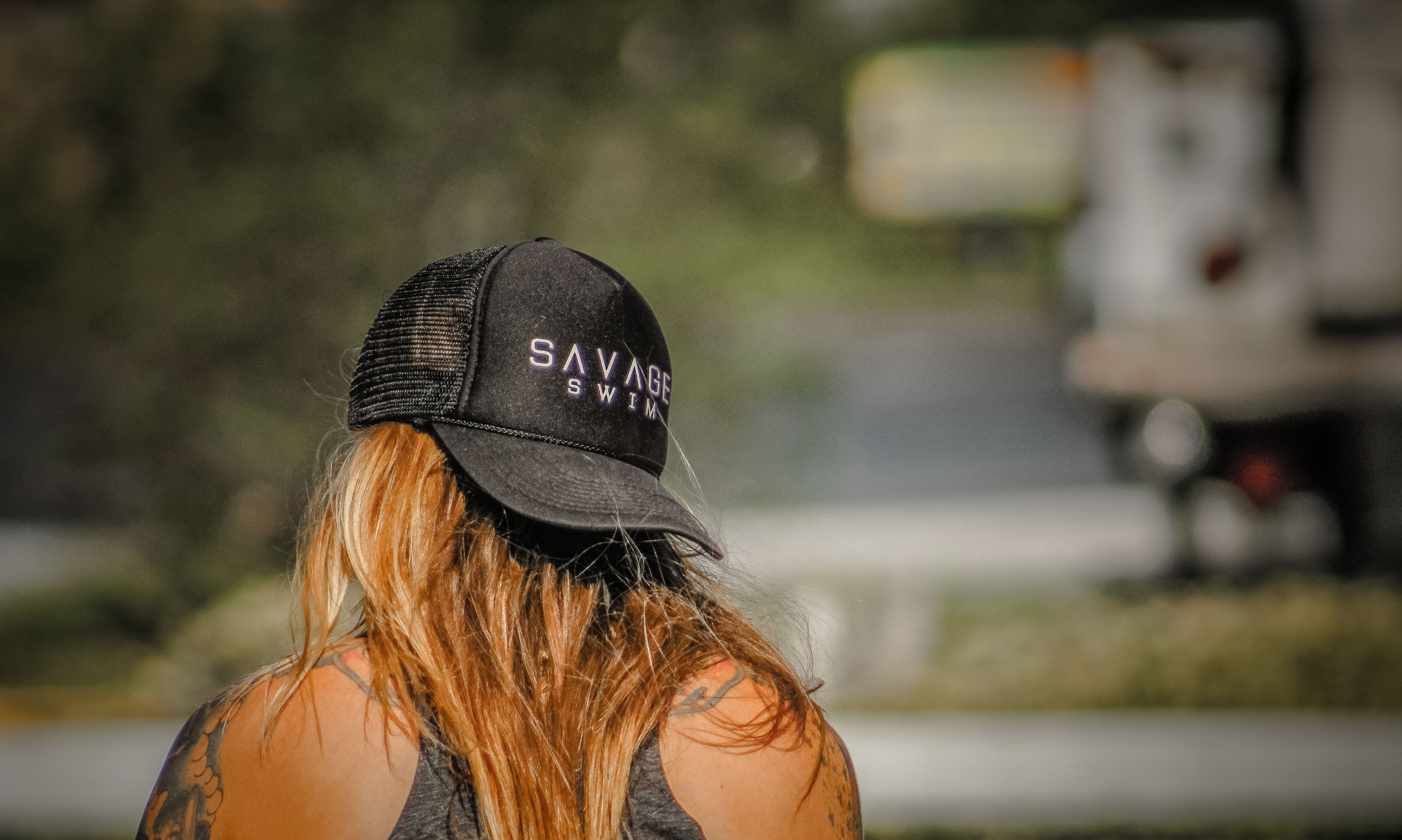 Women's black savage baseball cap photo