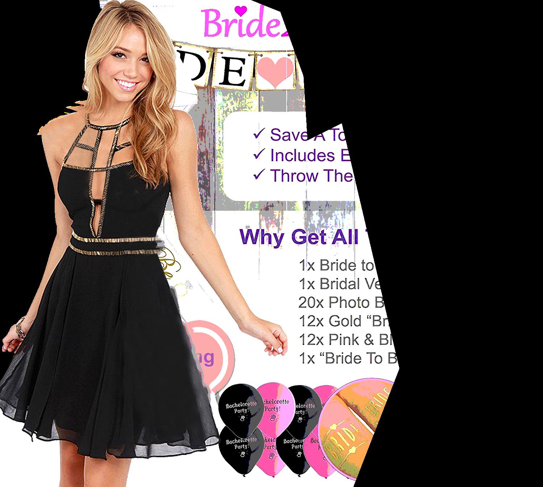 Women's black sleeveless dress photo
