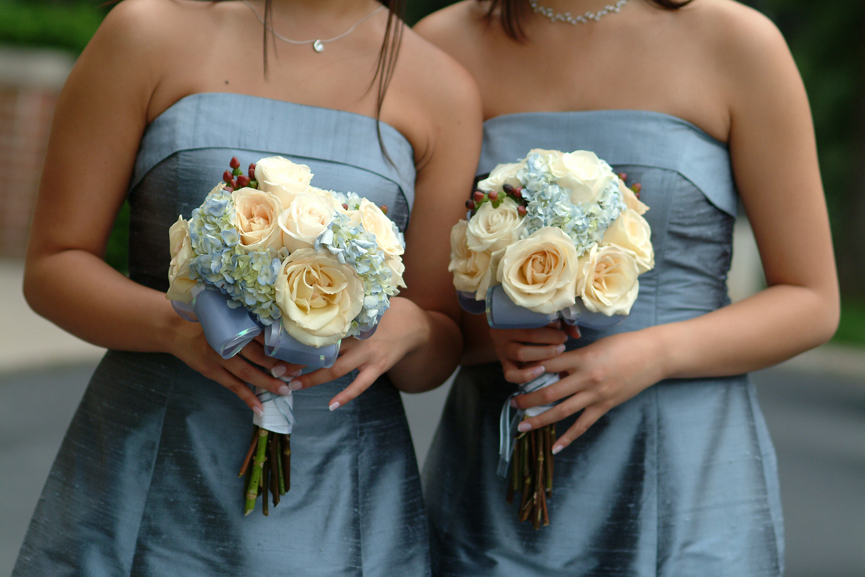 Women's gray strapless dresses photo