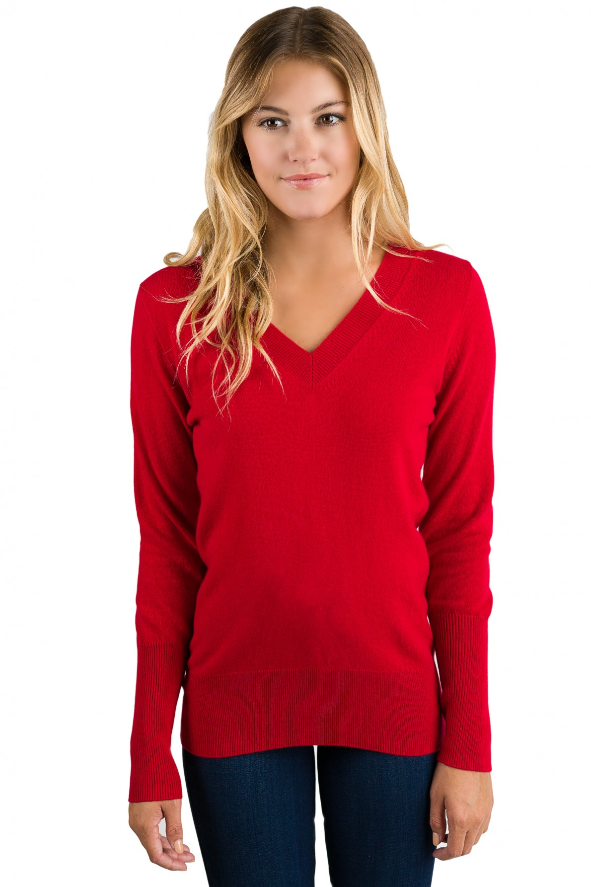 Women'S Red Cashmere Sweater - English Sweater Vest