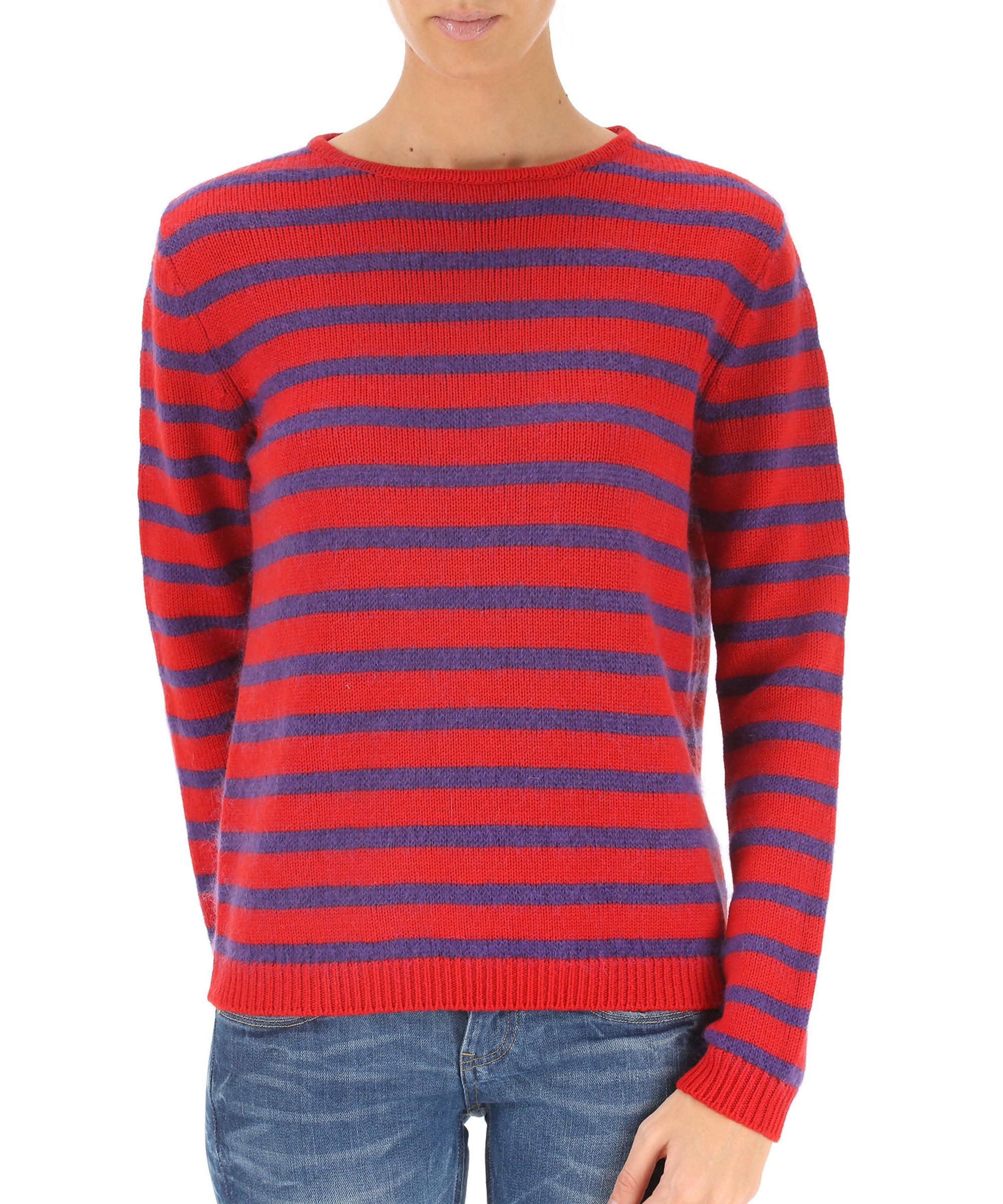 Stella Jean Women's clothings Stella Jean Women's Red Wool Sweater ...