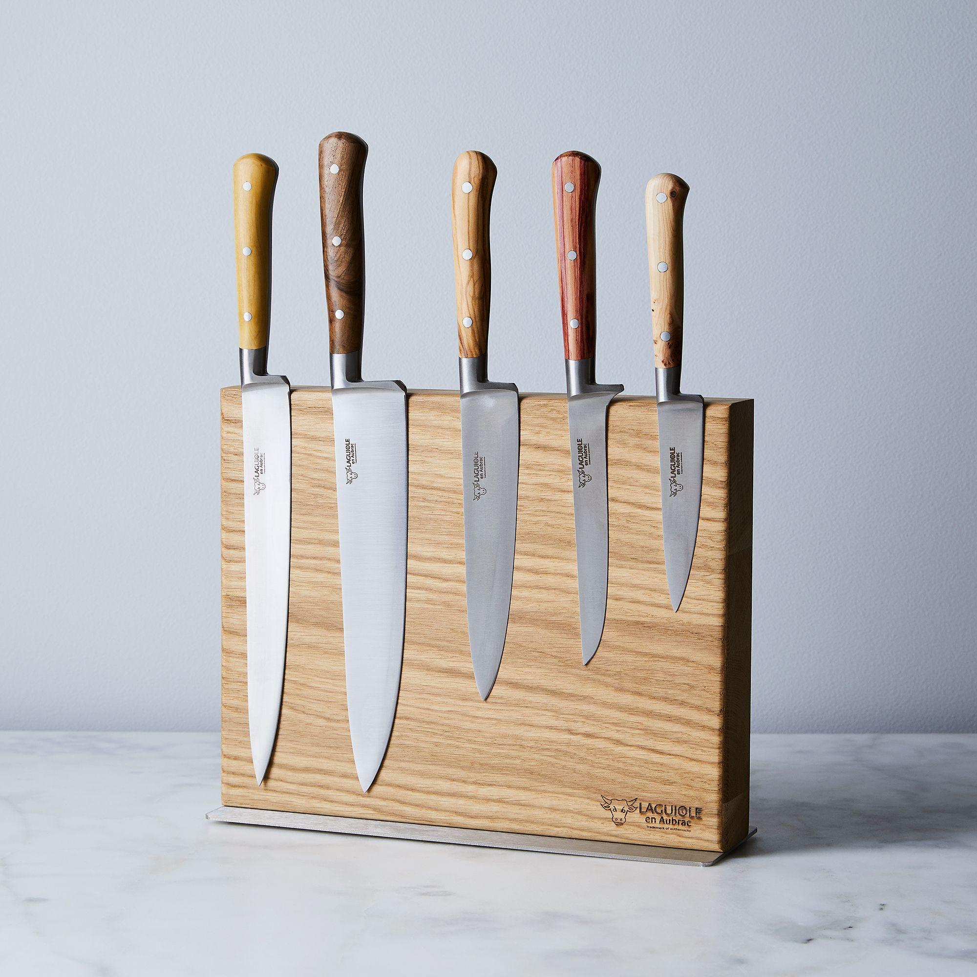 Laguiole en Aubrac Mixed Wood Knife Set & Magnetic Block on Food52