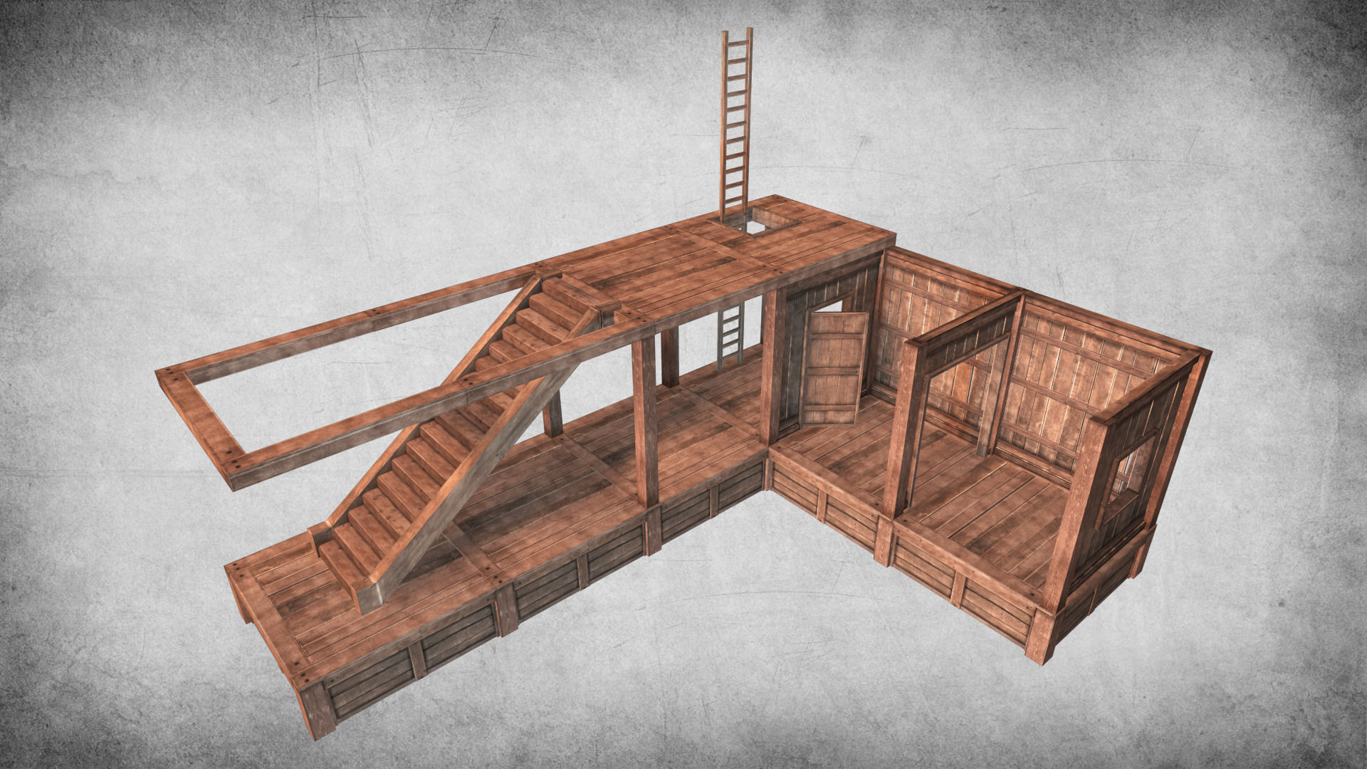 Survival Wood Crafting Kit 3D model | CGTrader
