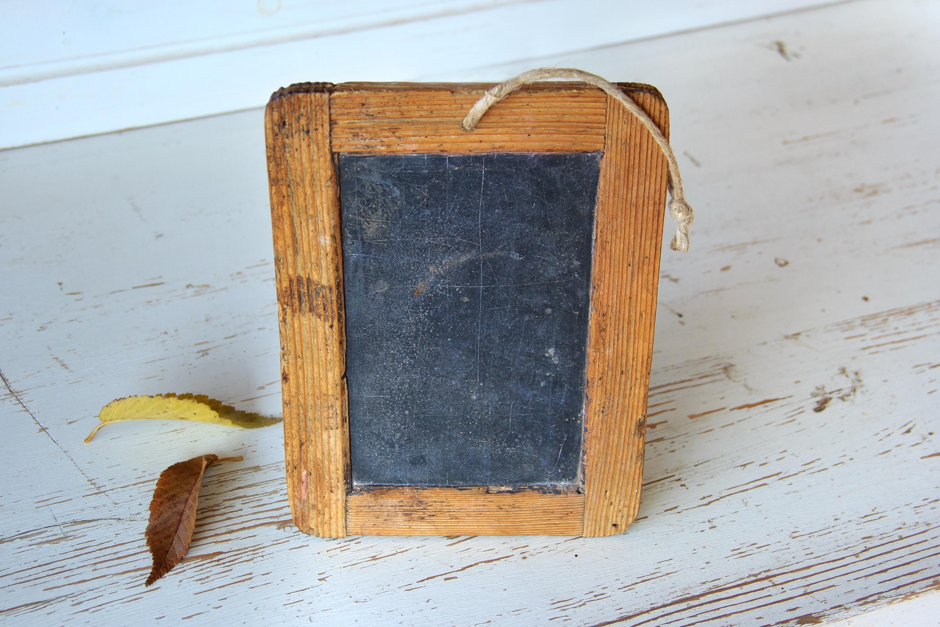 Wood frame mini chalk board photo