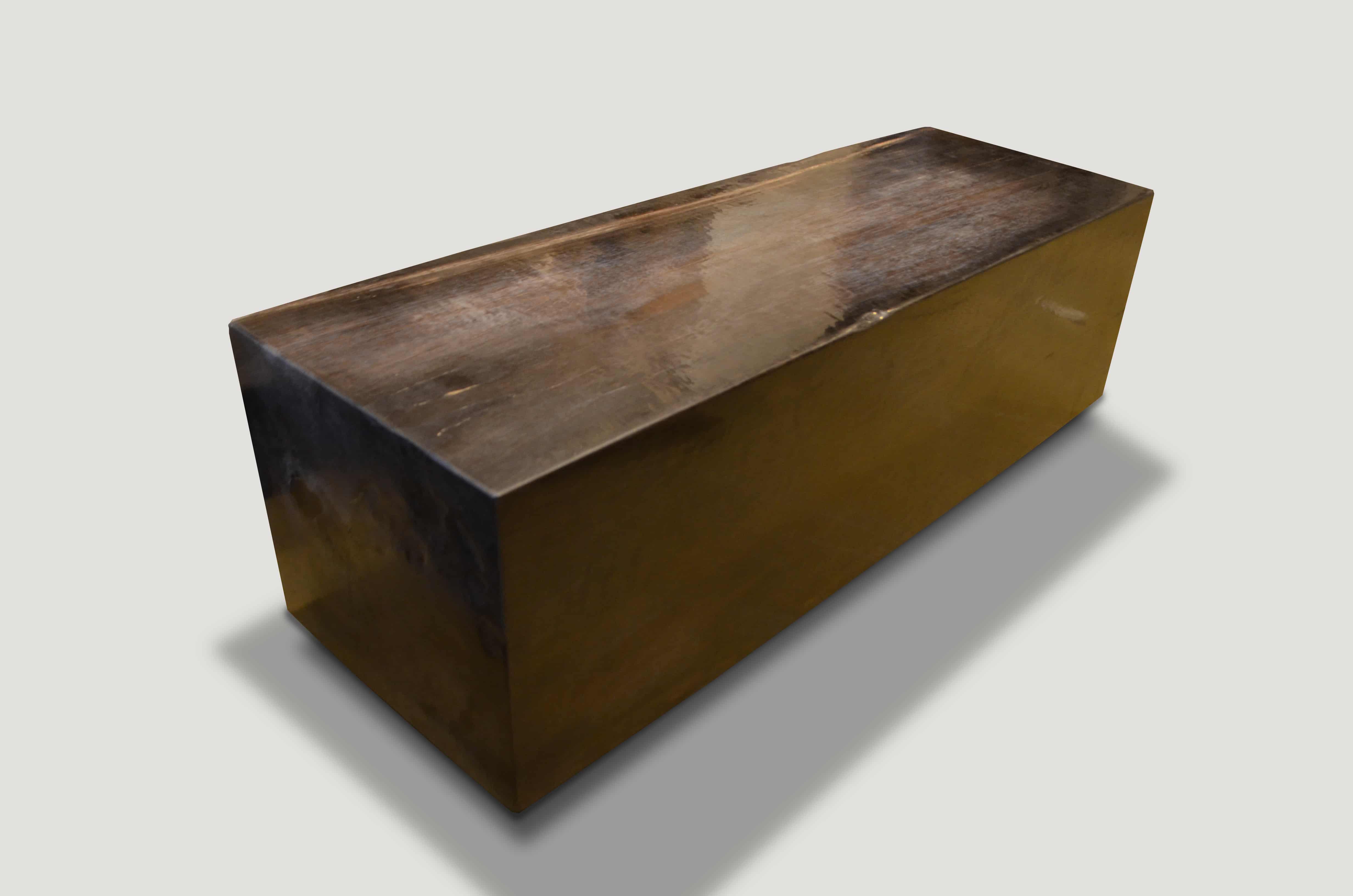 Super Smooth Petrified Wood Log Bench 1343F - Andrianna Shamaris