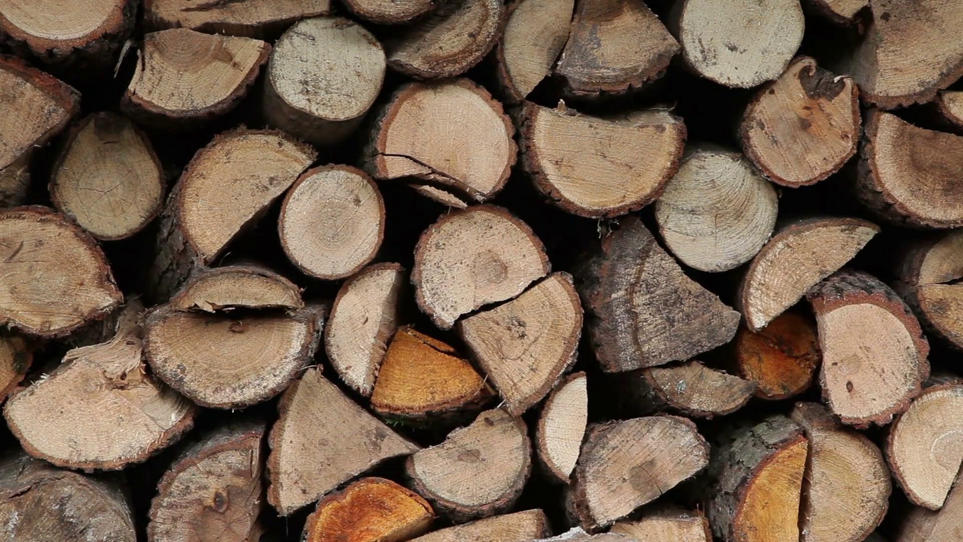 Pile of fire wood, logs Stock Video Footage - Videoblocks