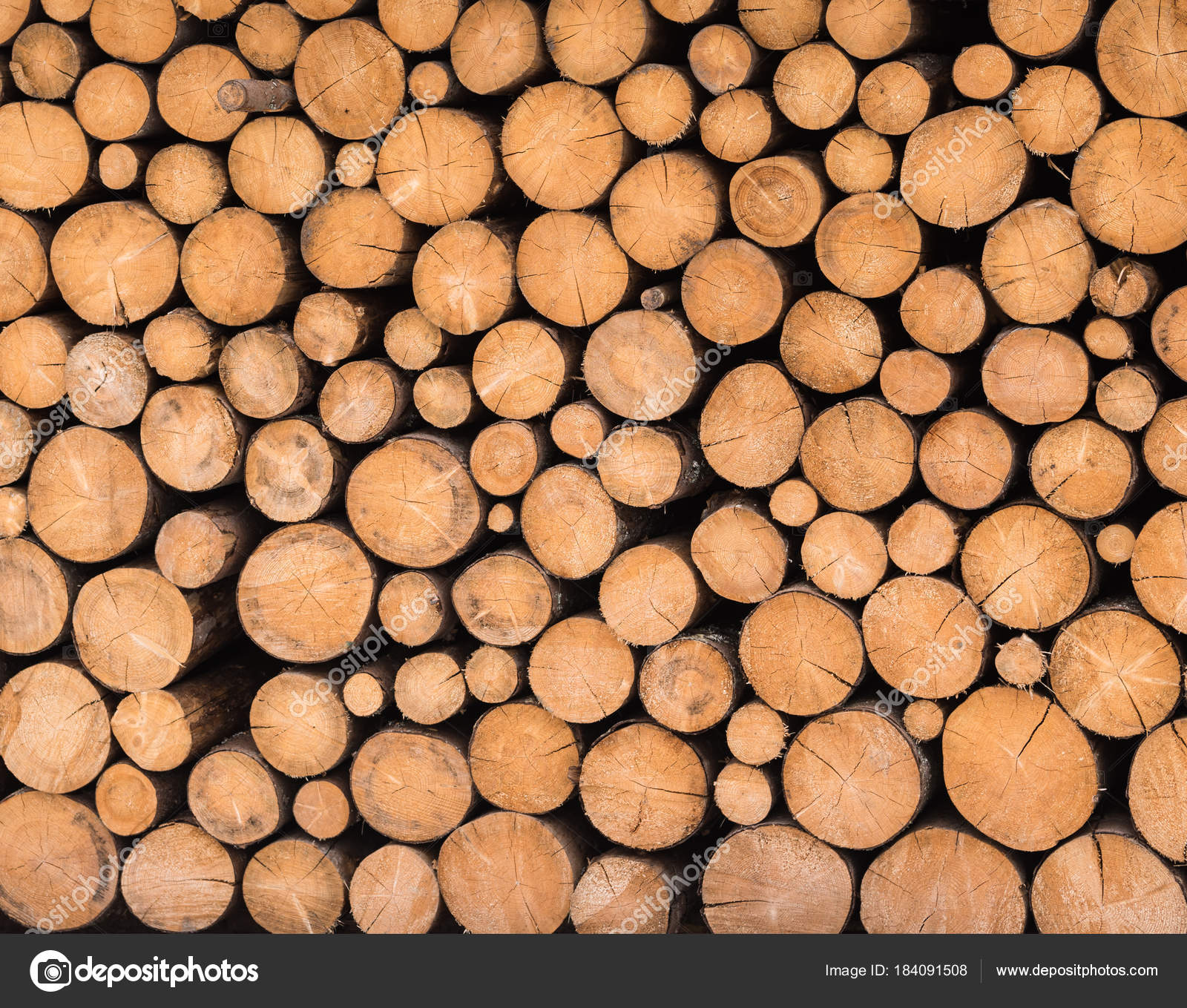 Wood logs ready for winter — Stock Photo © VBaleha #184091508