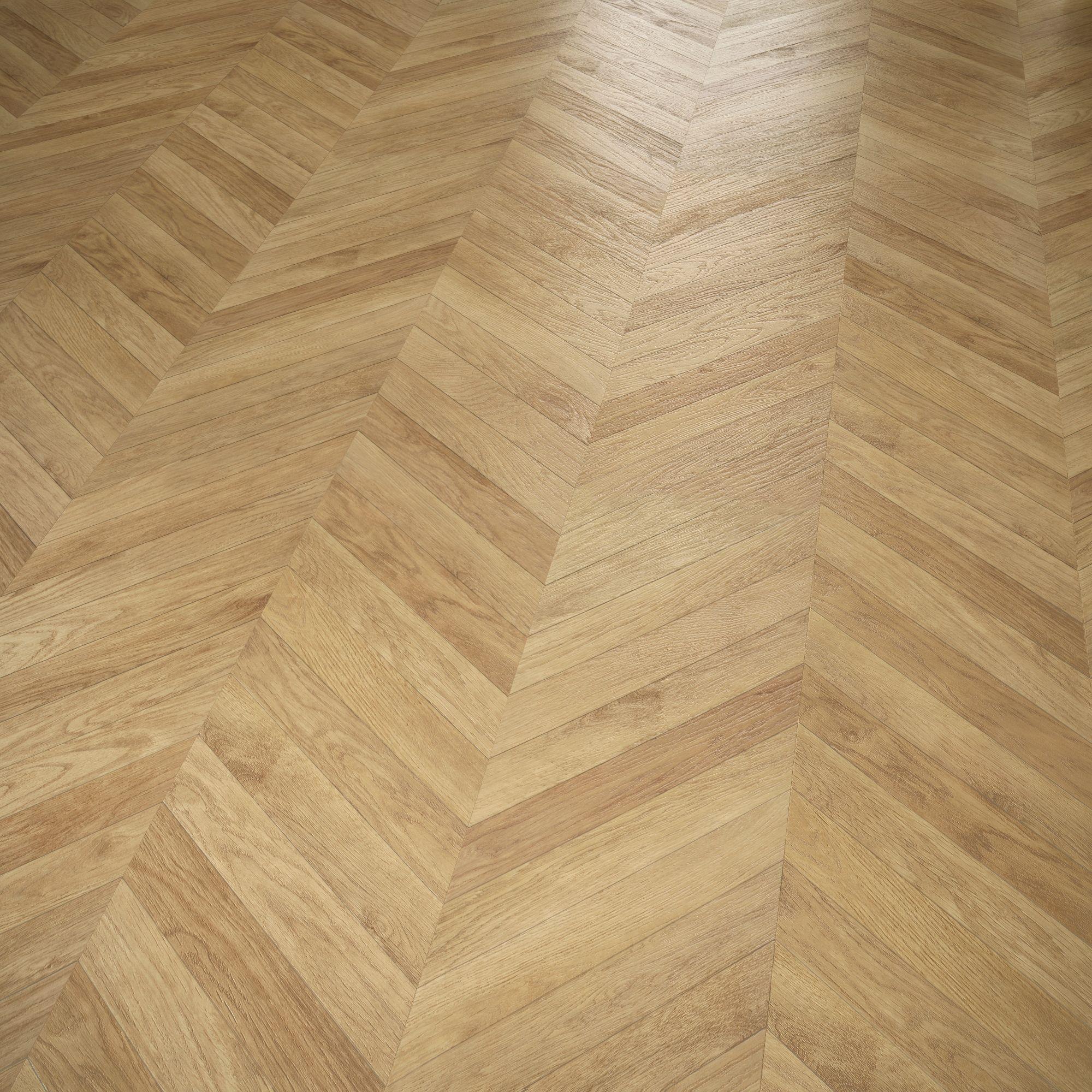 Alessano Herringbone oak effect Laminate flooring 1.39 m² Pack ...