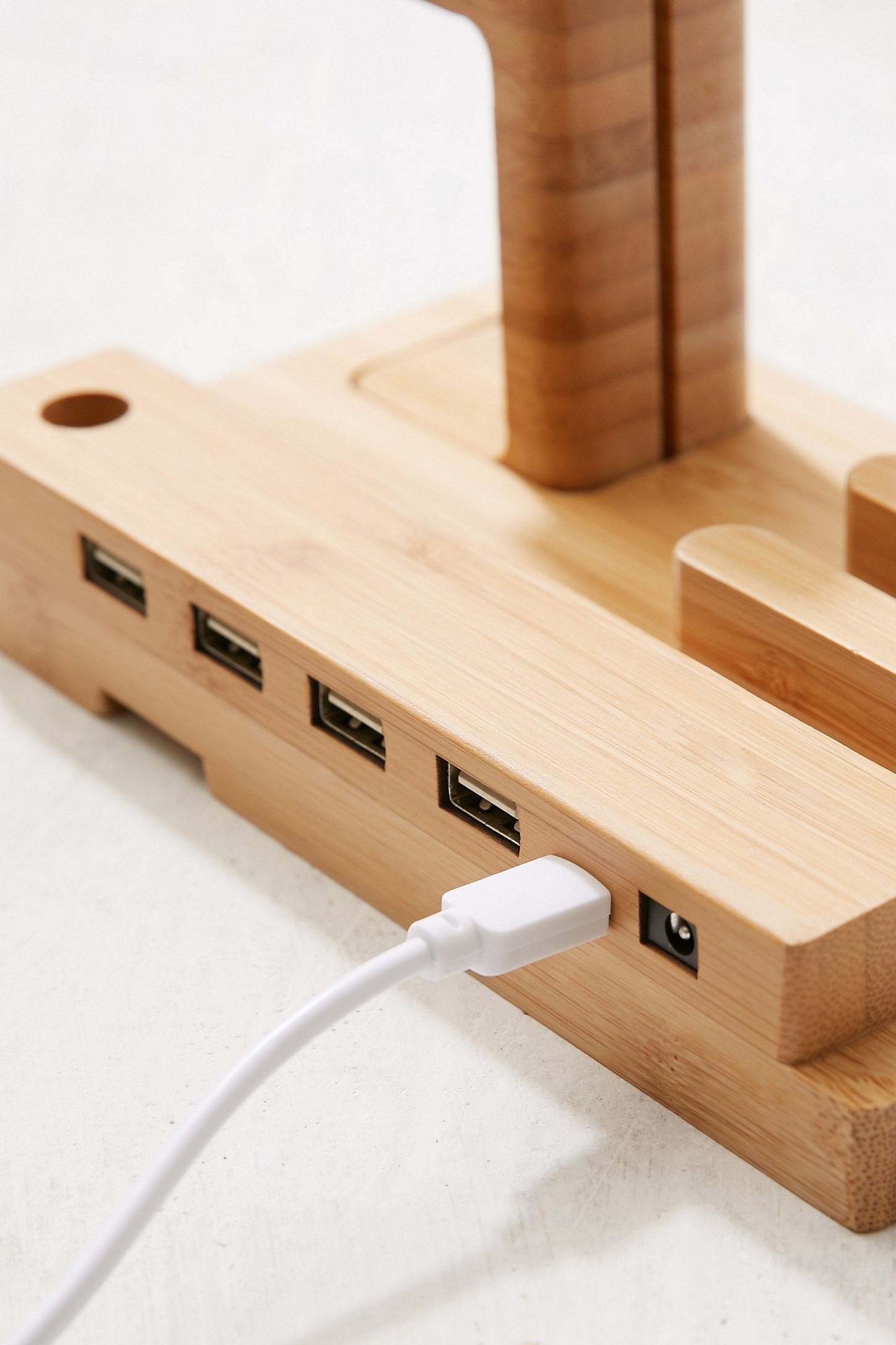 Wooden Multi-Device Charging Dock | Urban Outfitters