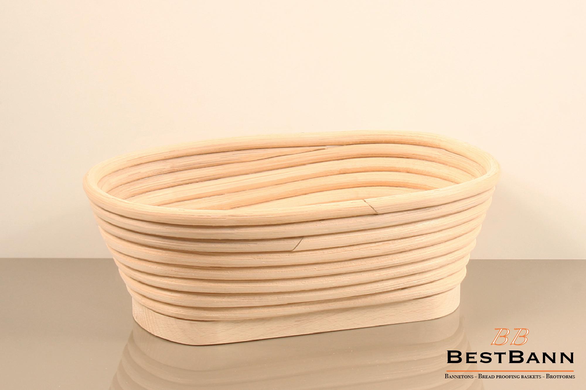Oval 1 kg / 2,20 lb basket, wooden base BestBann Online Shop