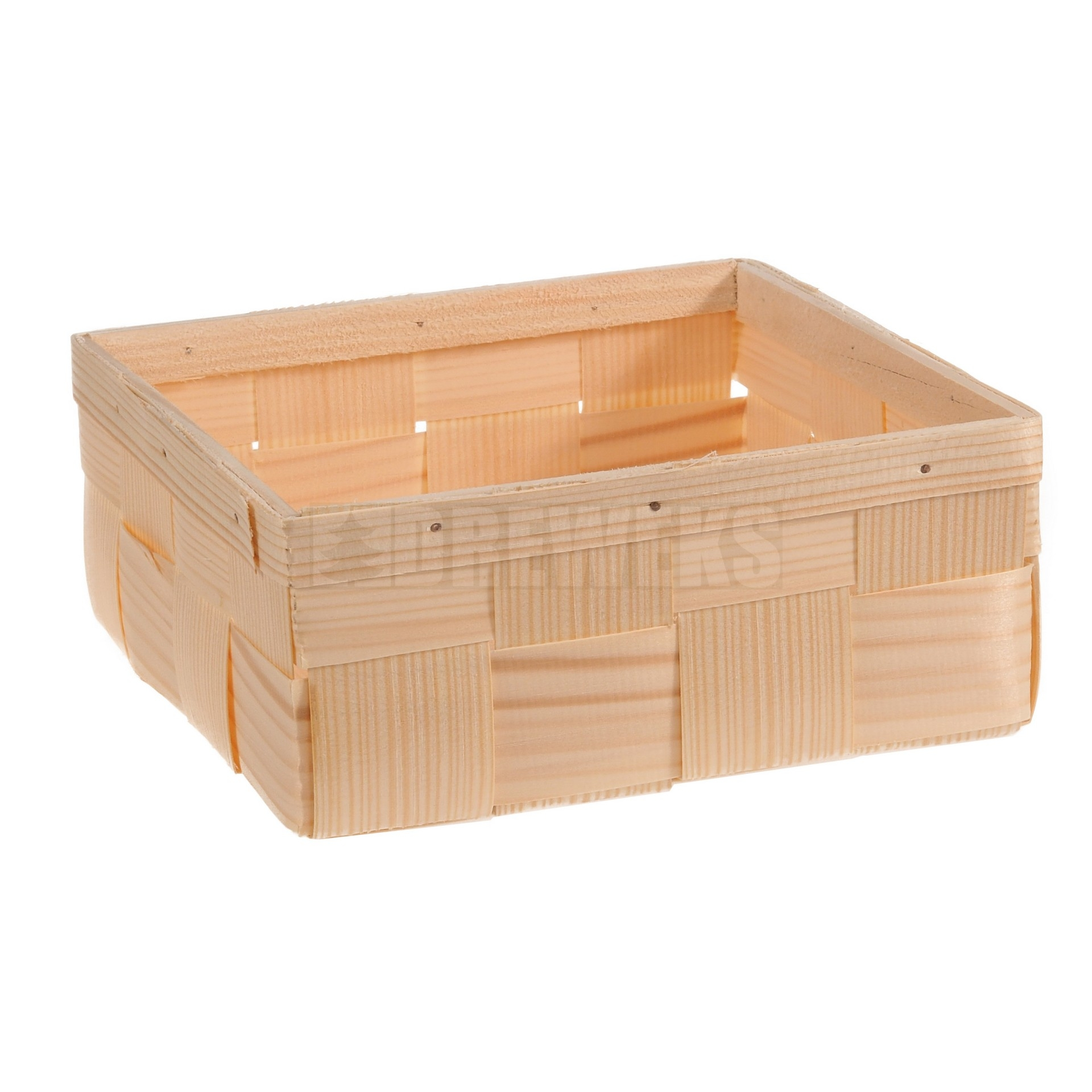 Wooden basket - square