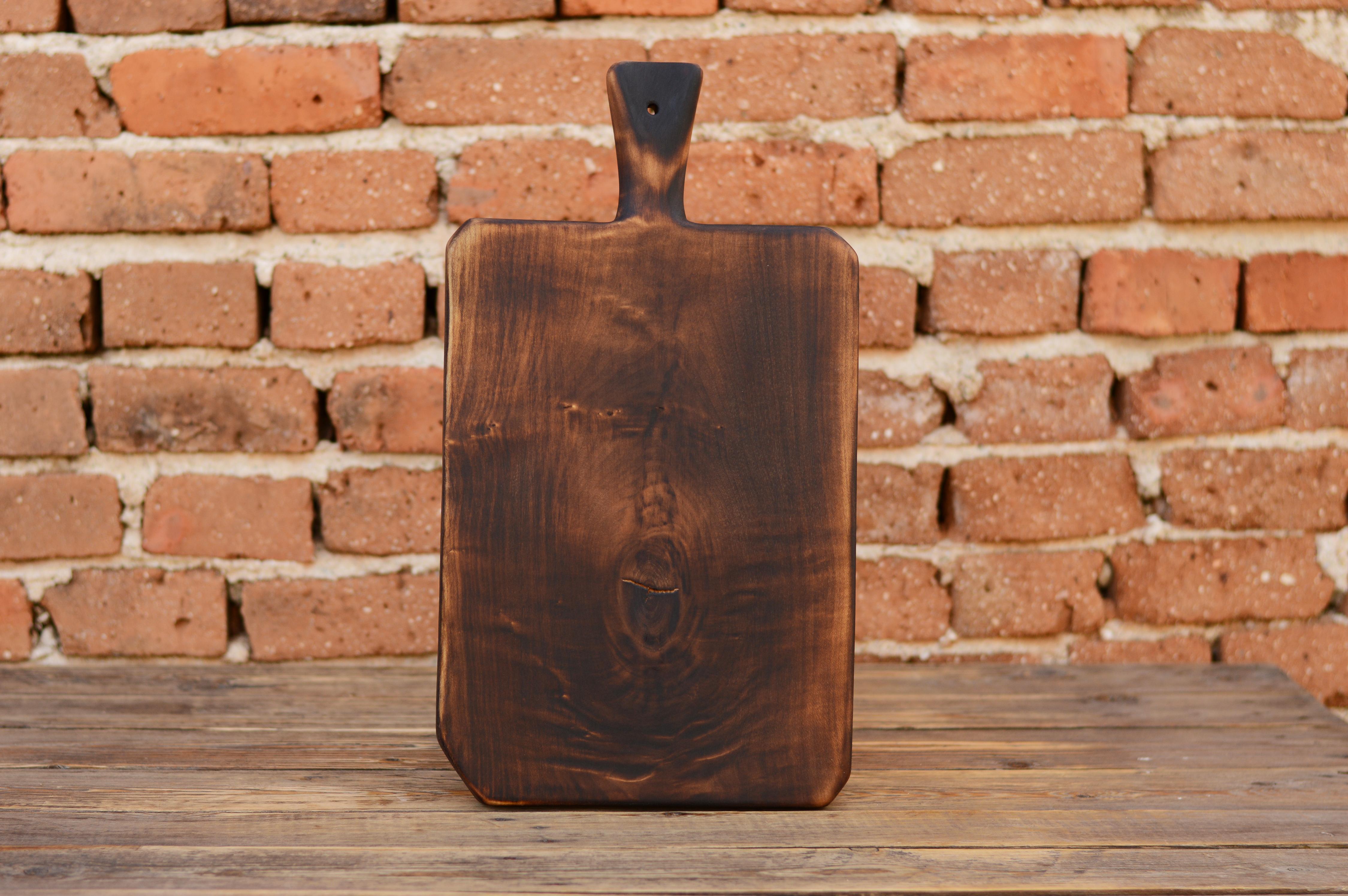 Solid wood kitchen board, Breakfast board, Wooden serving platter ...