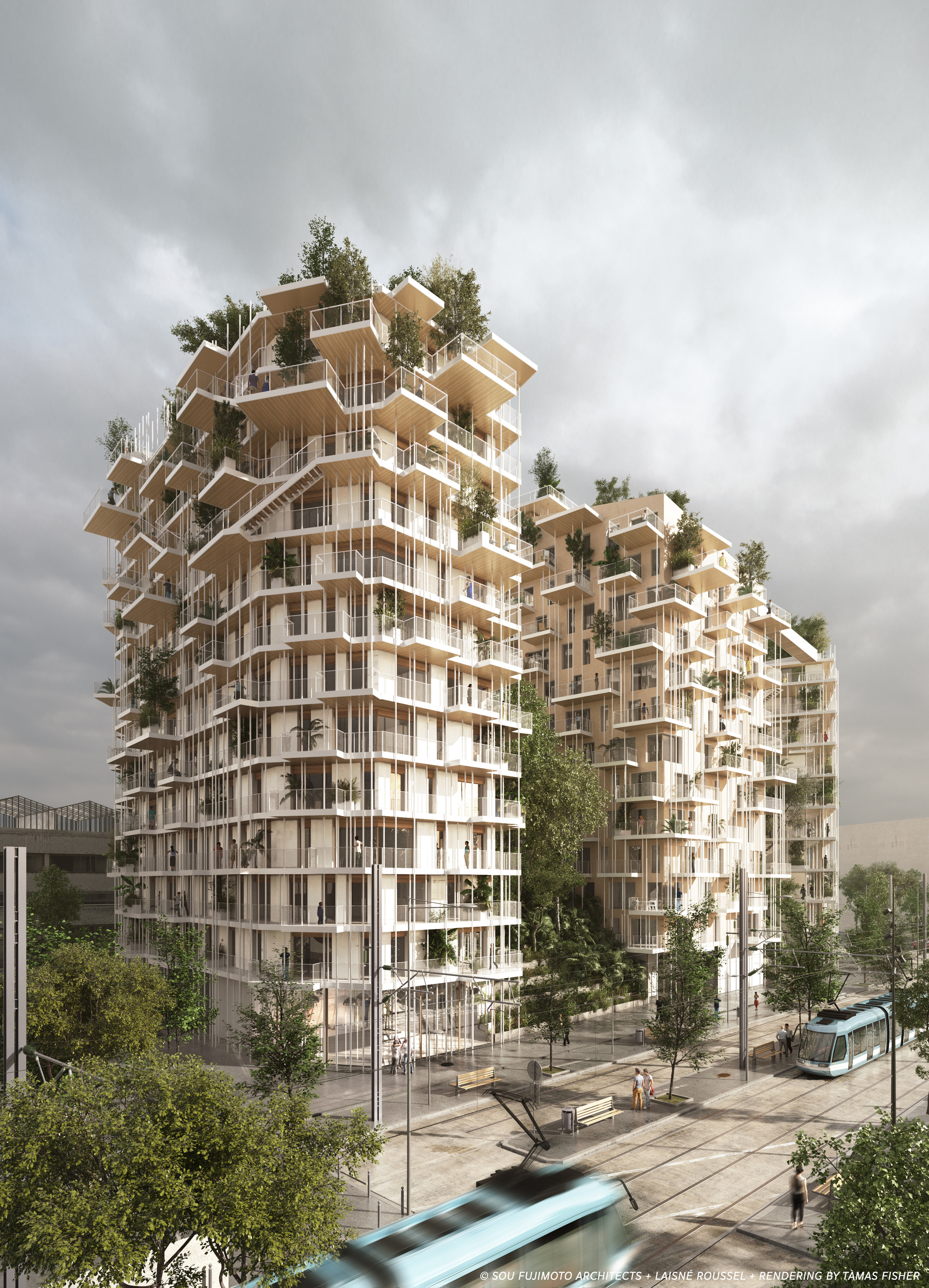 Sou Fujimoto and Laisné Roussel Propose Wooden Mixed-Use Tower for ...