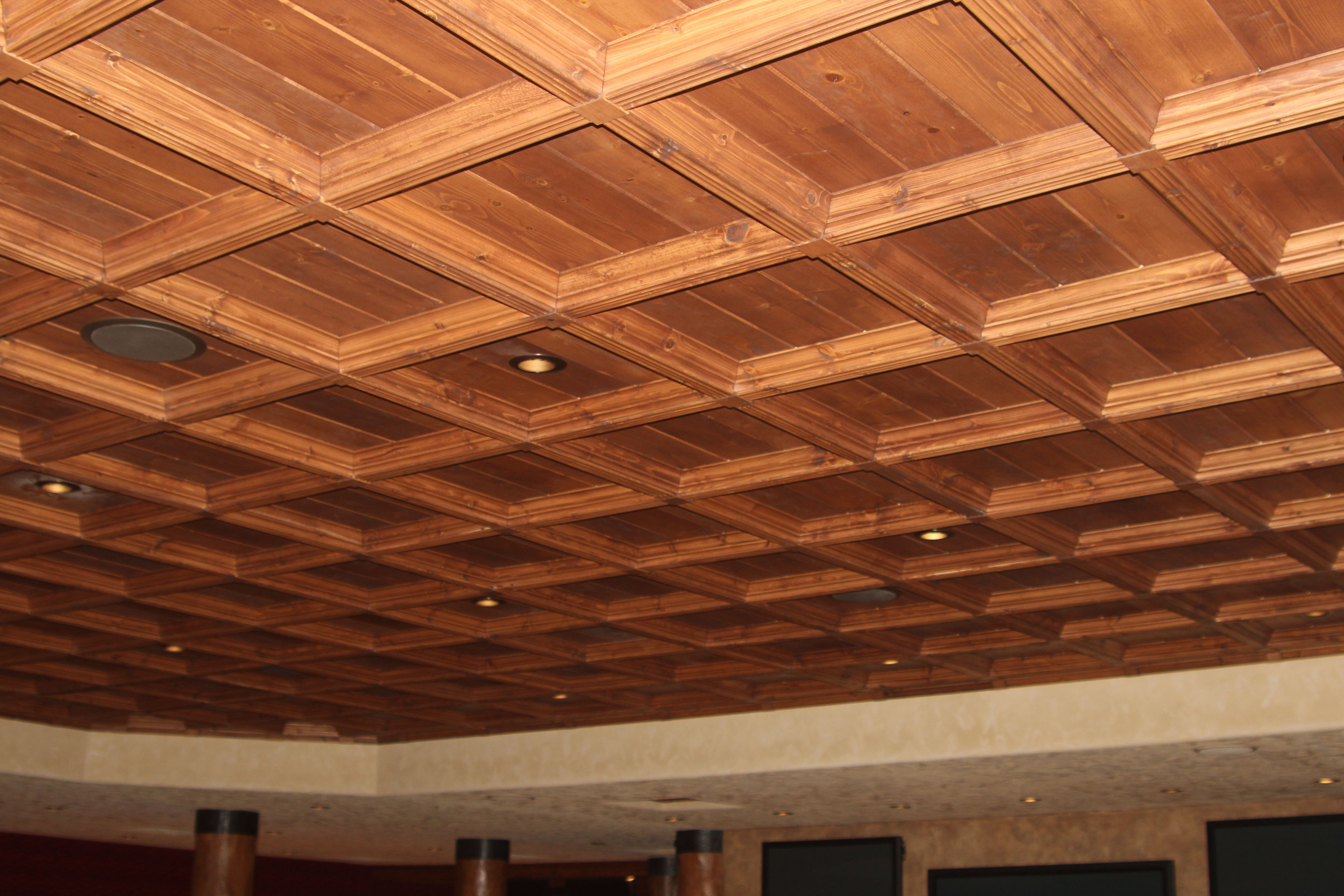 Classic Coffers Suspended Wood coffered ceiling cost for cool home ...