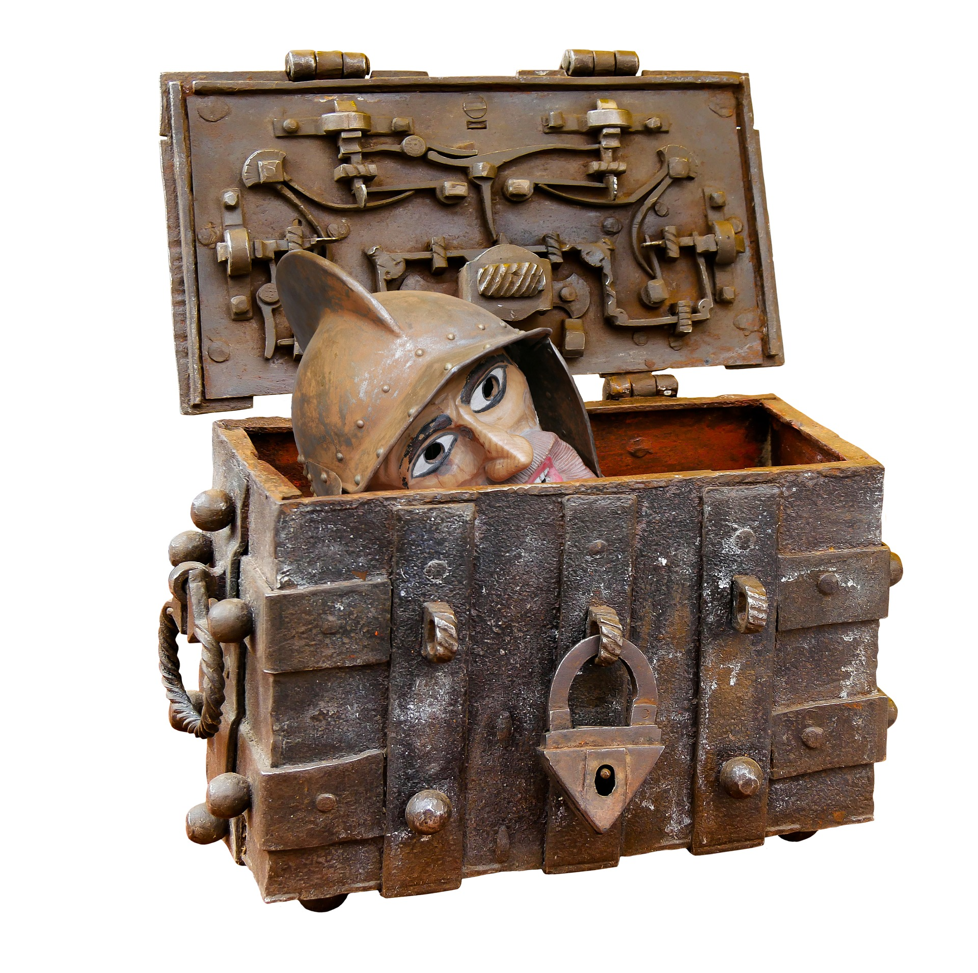 Wooden Chest, Chest, Fig, Figure, Hide, HQ Photo