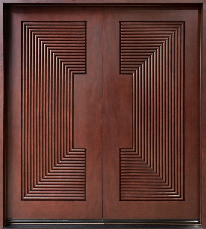 Mahogany Solid Wood Front Entry Door - Double | Master bedroom ...