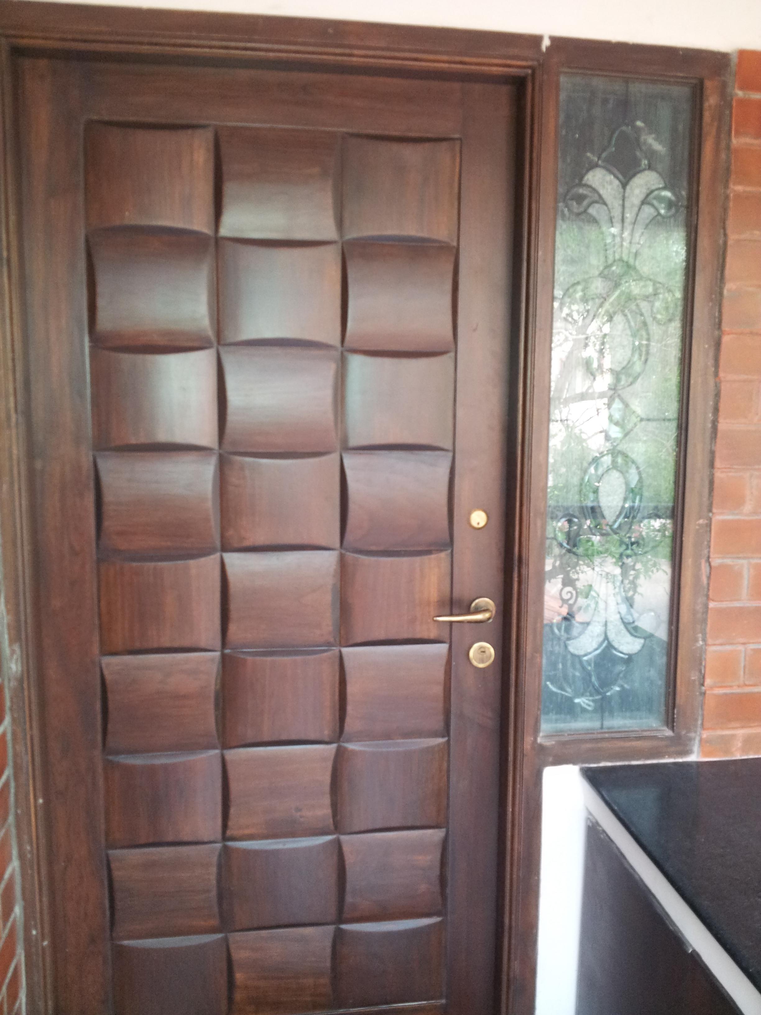 Exterior Design: Brilliant Double Frosted Lite Single Swing Door ...