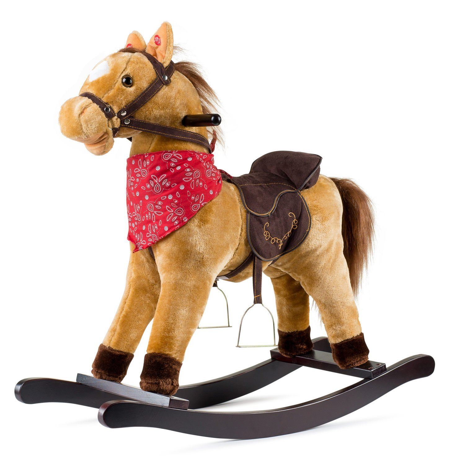 Amazon.com: Cowboy Rocking Horse - Tan Brown: Toys & Games
