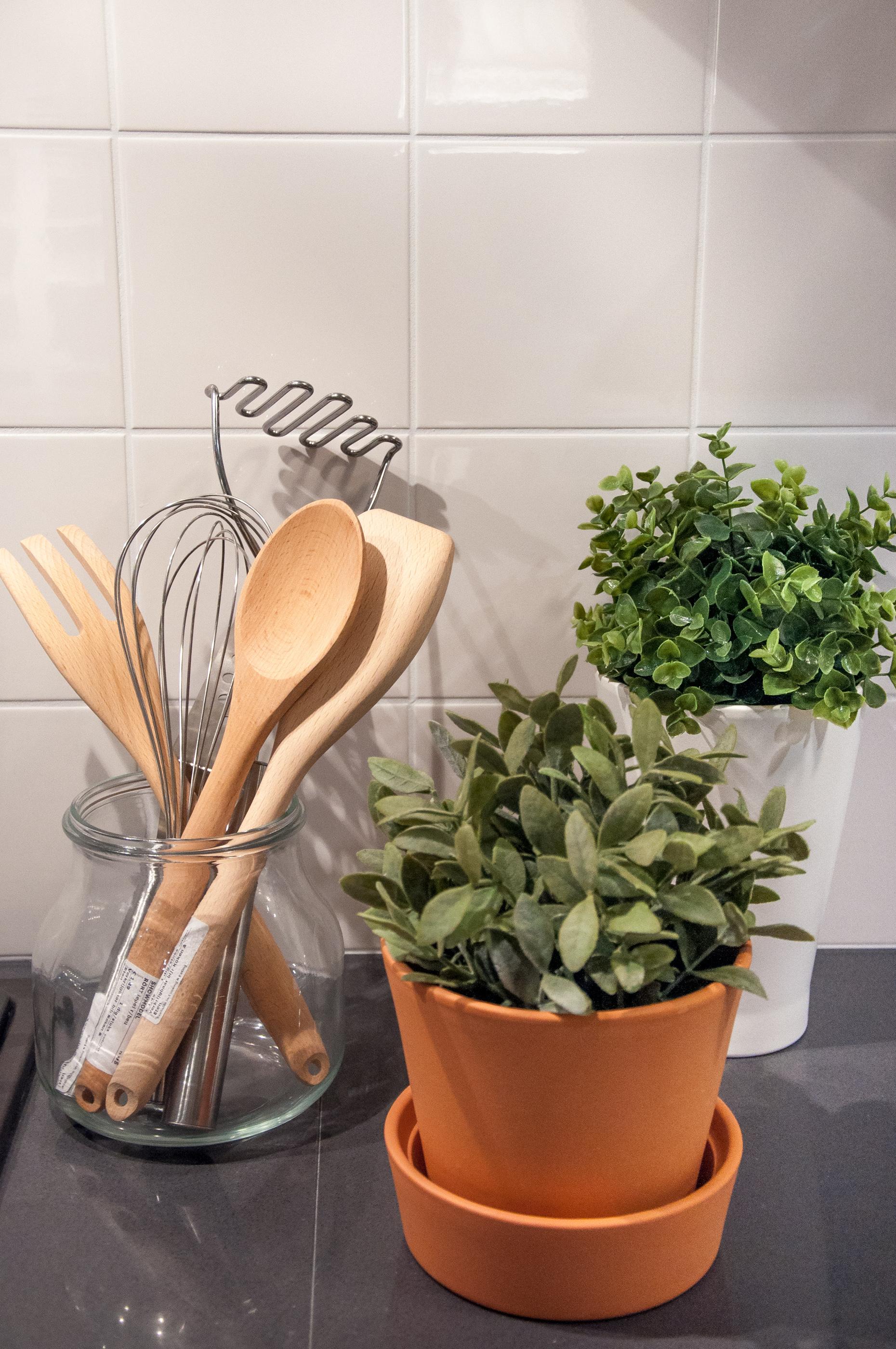 Wooden kitchen utensils photo