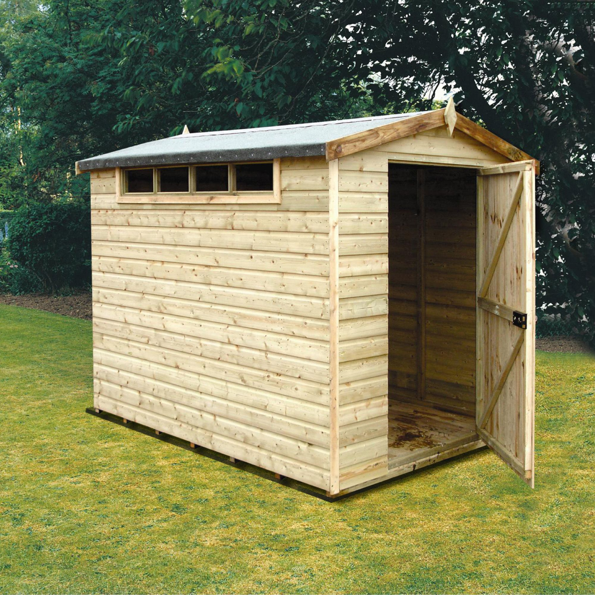 Wooden shed photo