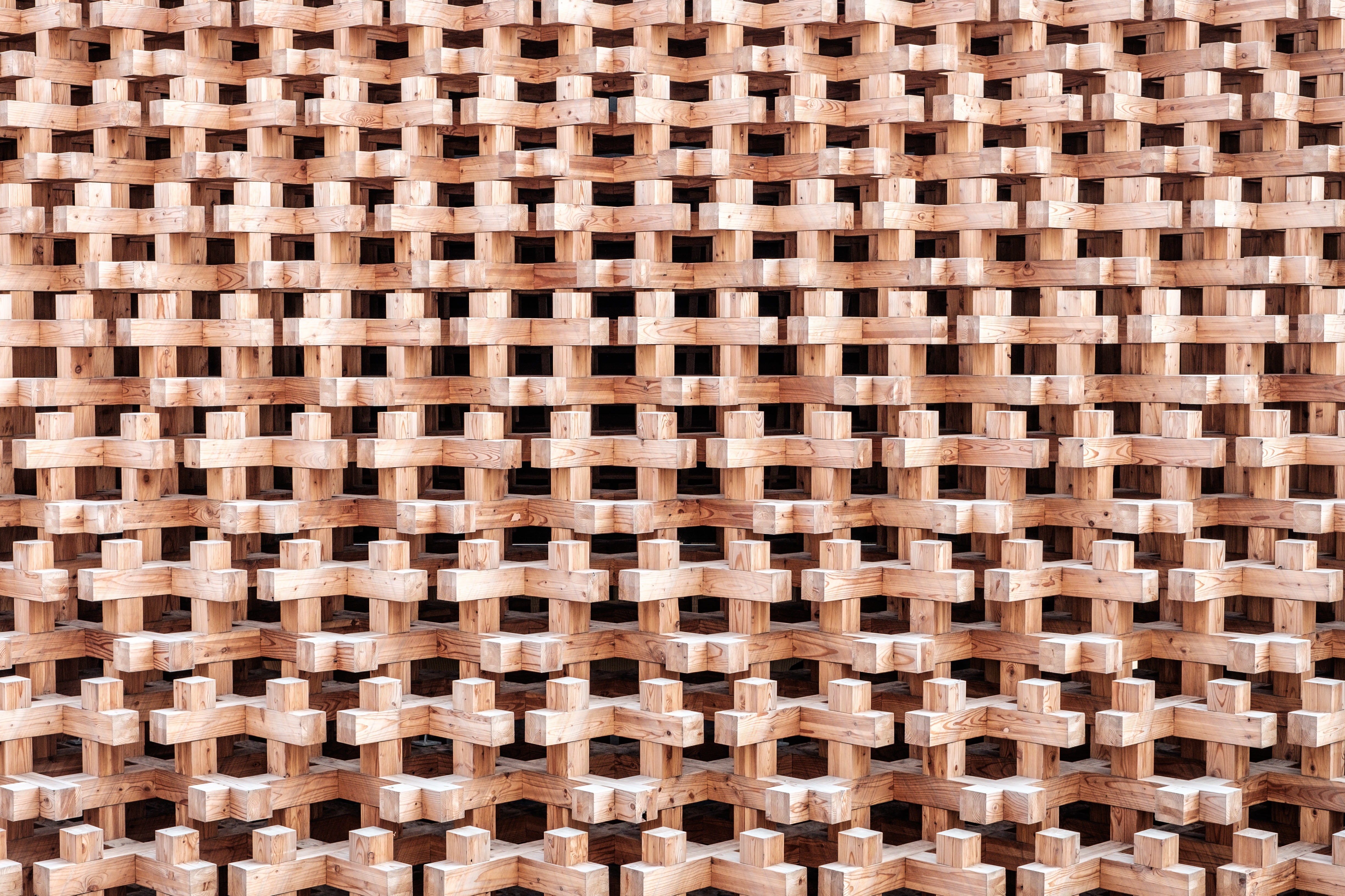 Wooden Structure, Design, Factory, Group, Structure, HQ Photo