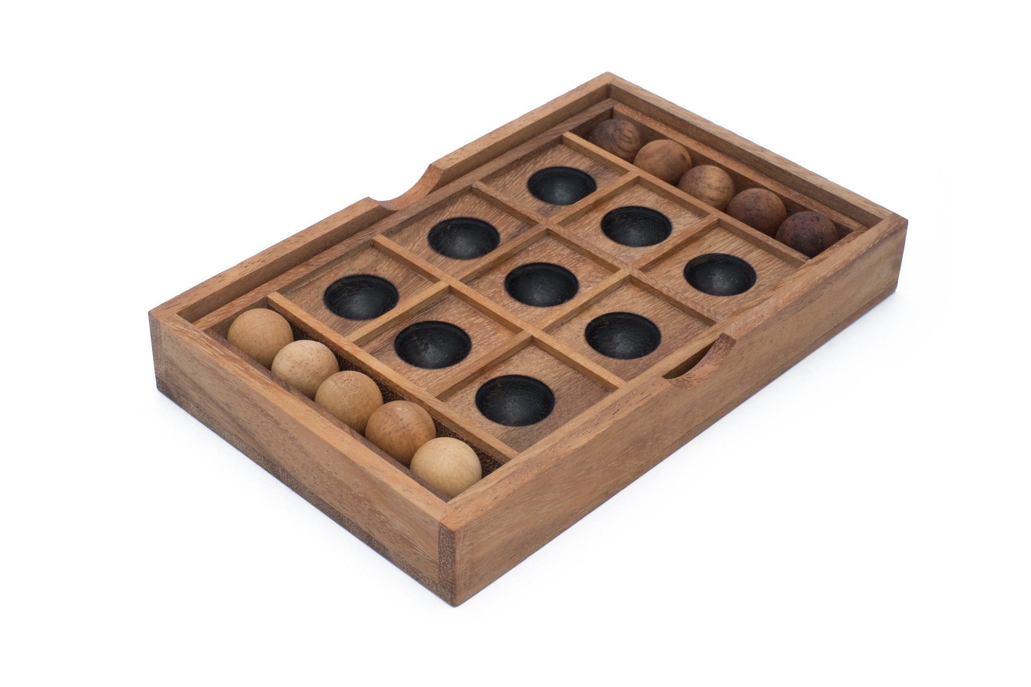 Wooden Tic Tac Toe Set | Noughts And Crosses Wooden Game Board