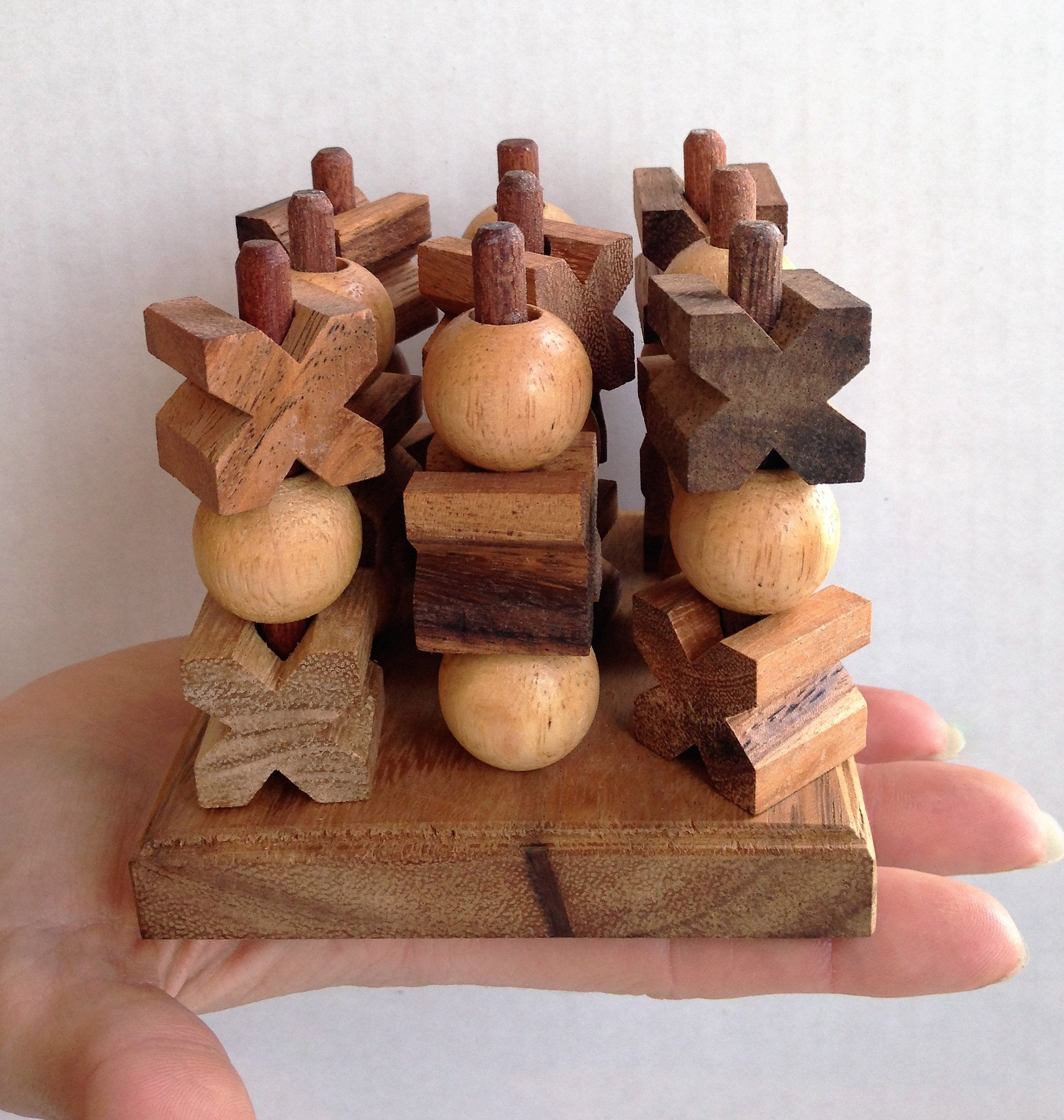 3D Tic Tac Toe (Small) - Strategy Wooden Game - Solve It! Think Out ...