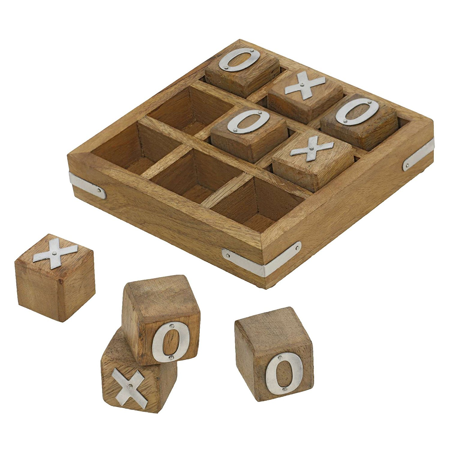 Amazon.com: Handmade Wooden Tic Tac Toe Game for Kids 7 and Up ...