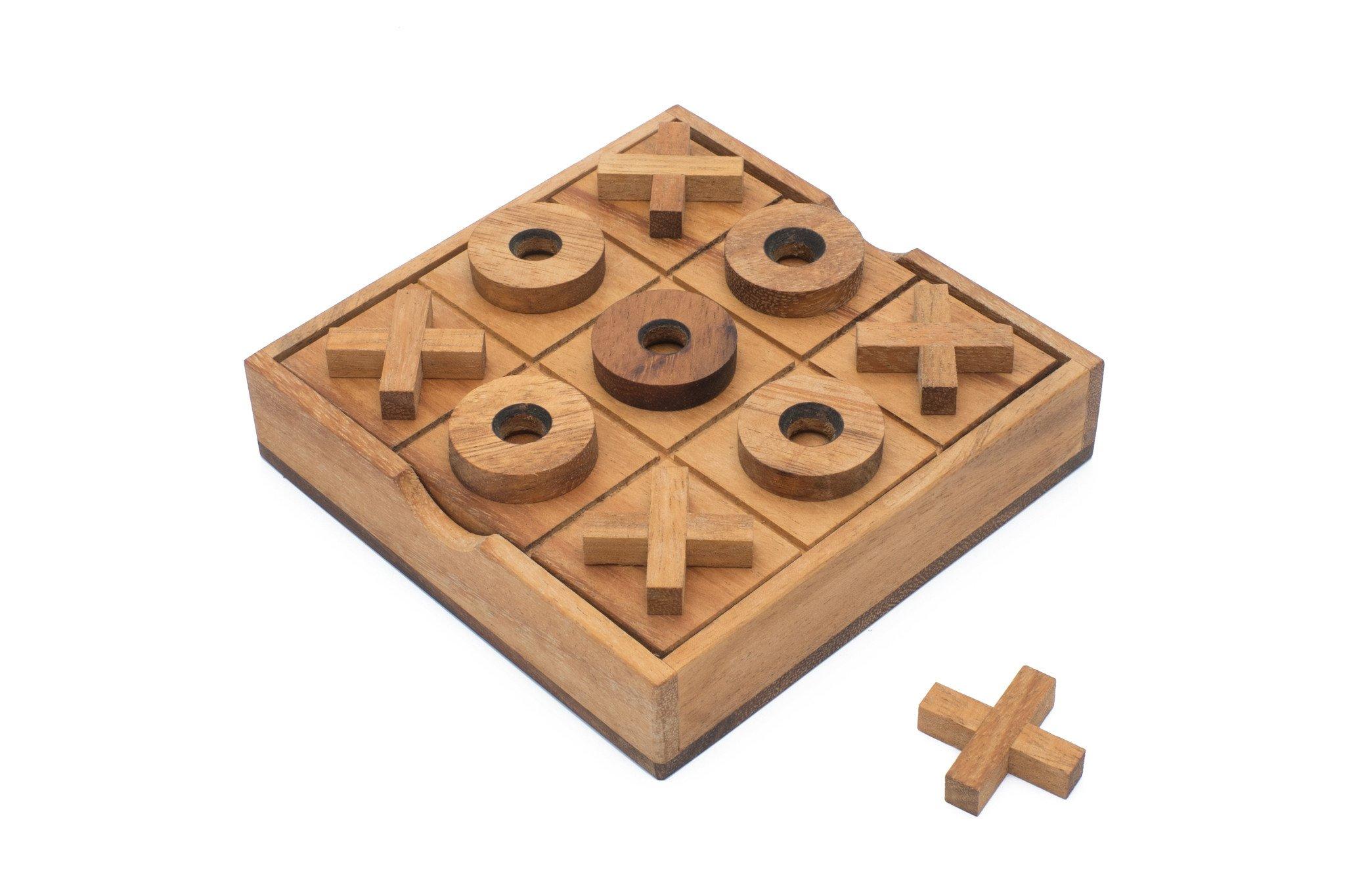 Wood Tic Tac Toe | Classic XOXO | Traditional Noughts & Crosses