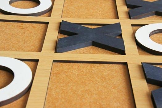 Wooden tic-tac-toe photo