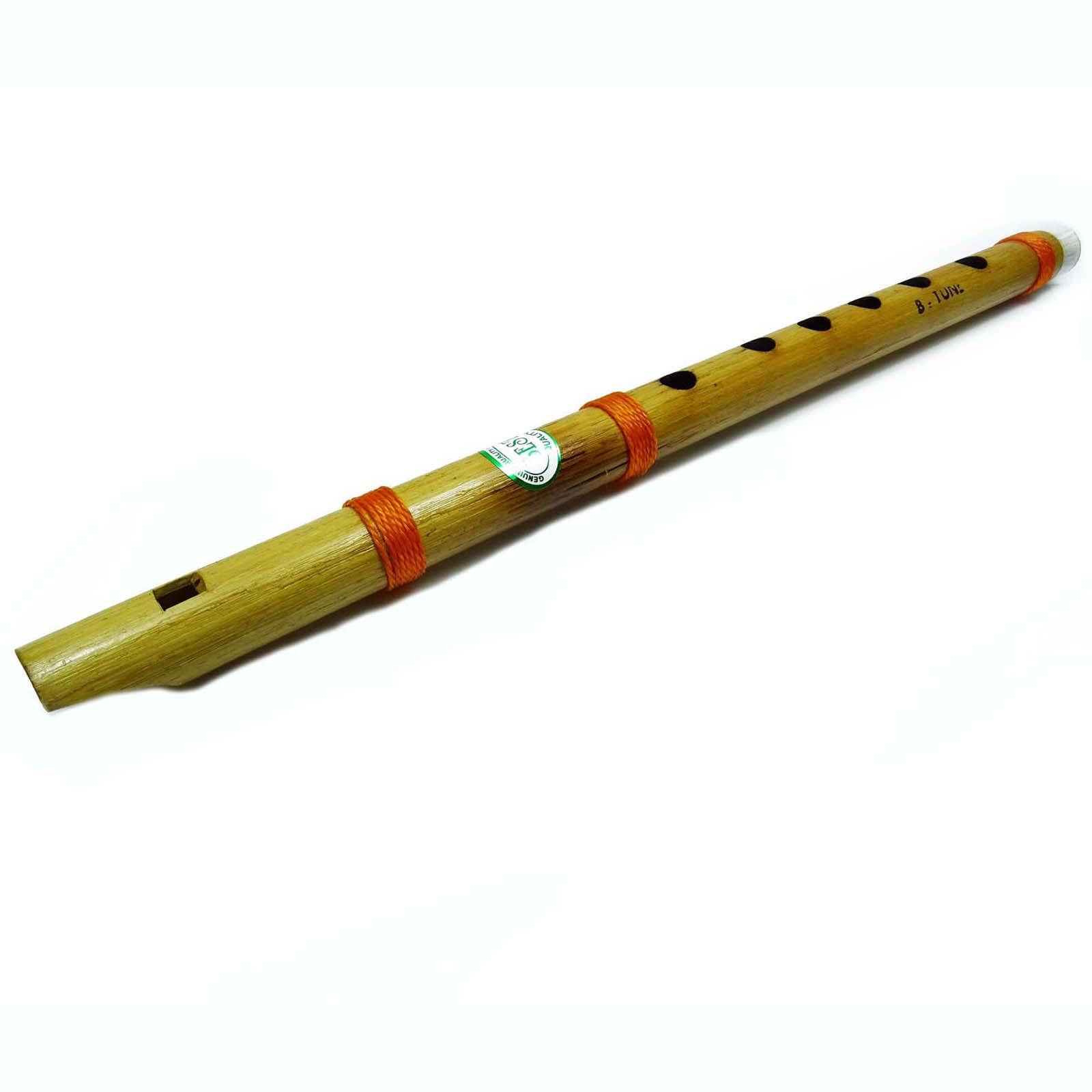 Decorative Brown Musical Instrument Wooden Bansuri Hand Painted ...