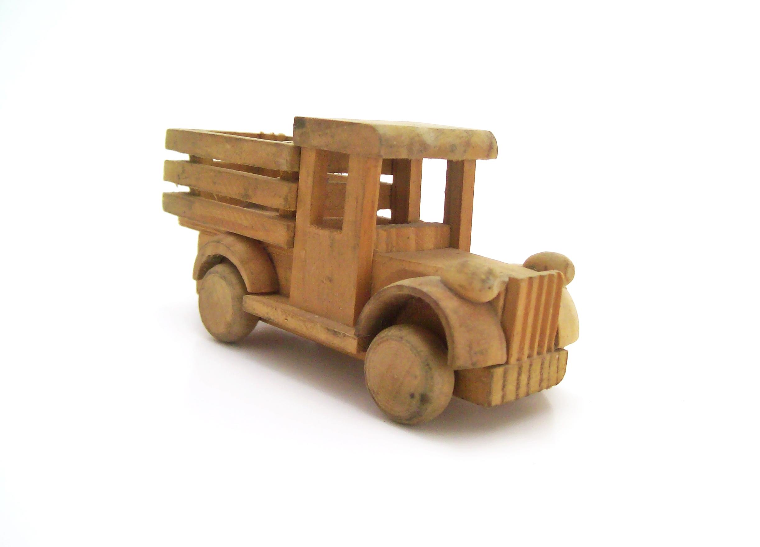 Wooden truck photo
