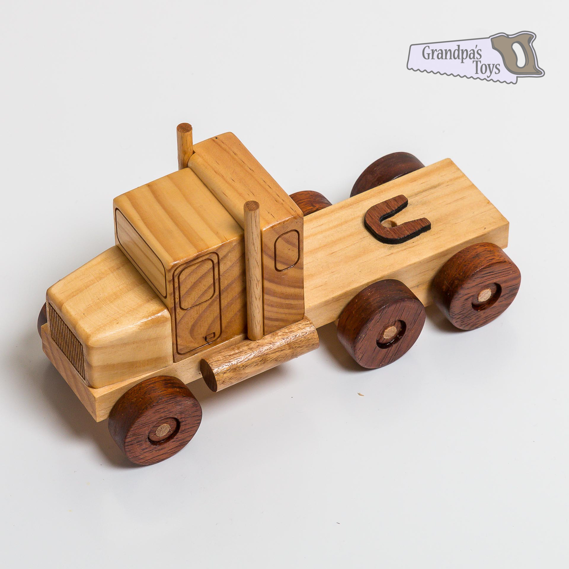 Wooden truck toy photo