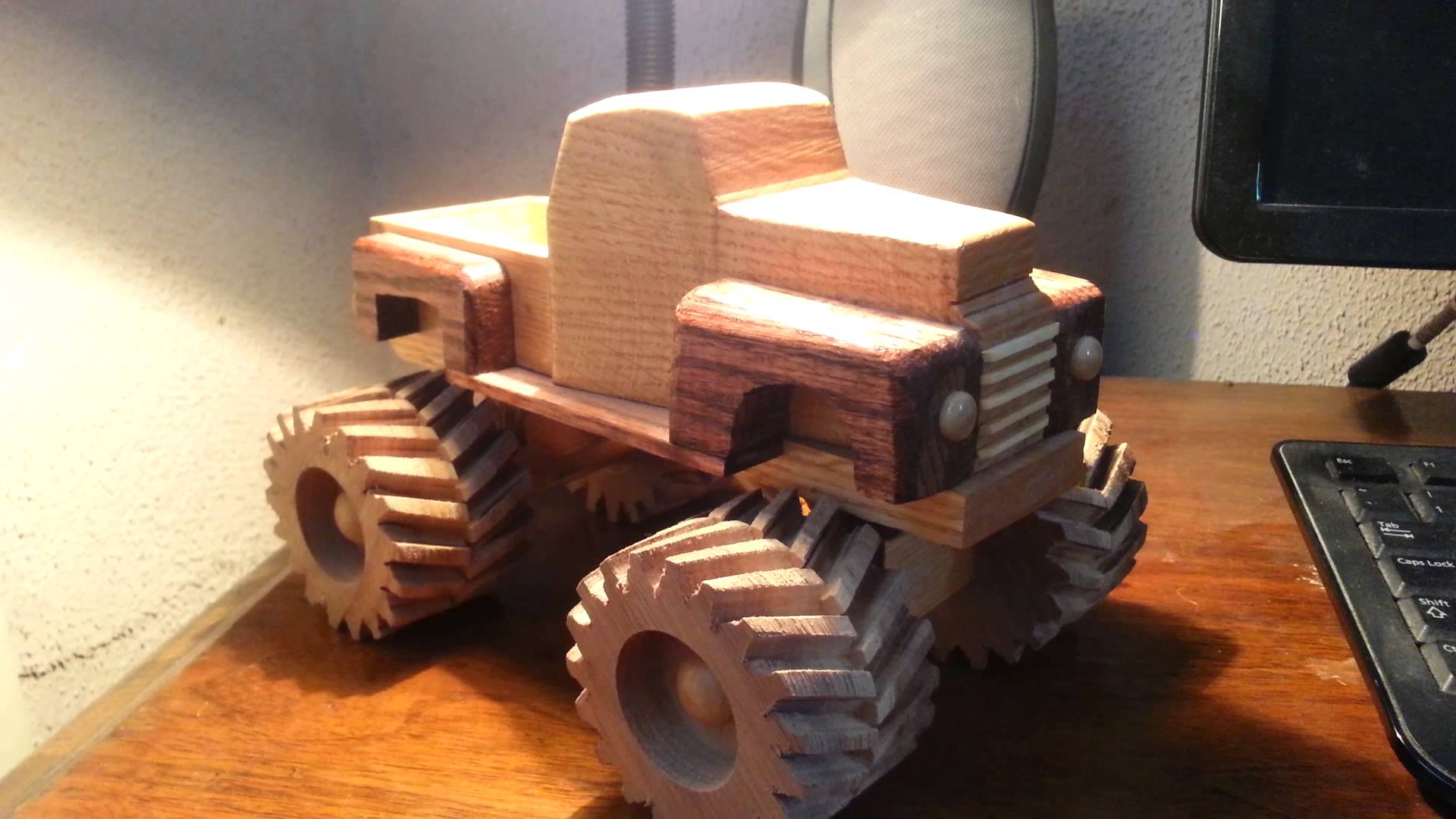 Wooden Toy 1948 Ford Monster Truck - YouTube