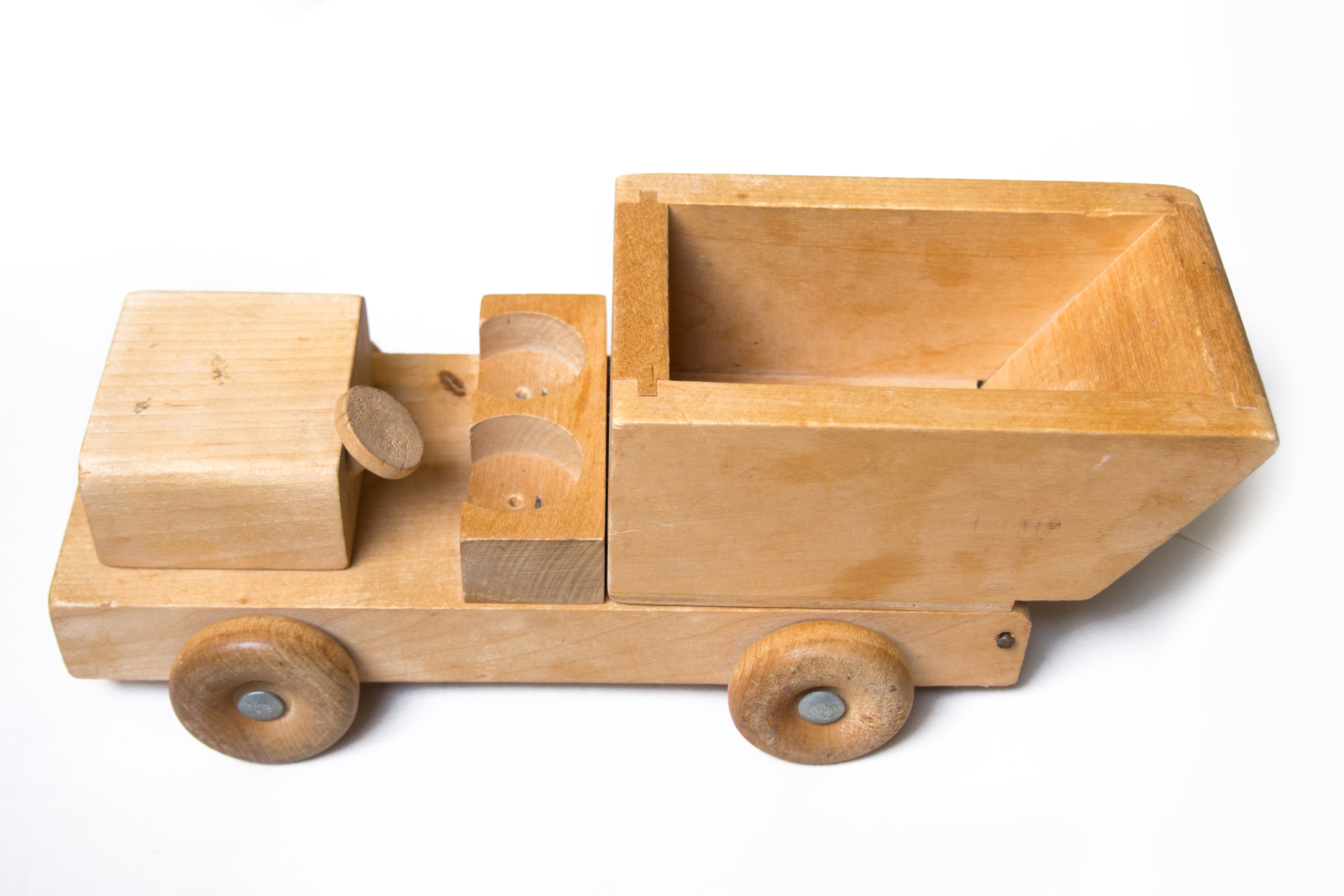 Wooden truck toy, Cabin, Traffic, Rubber, Simplicity, HQ Photo