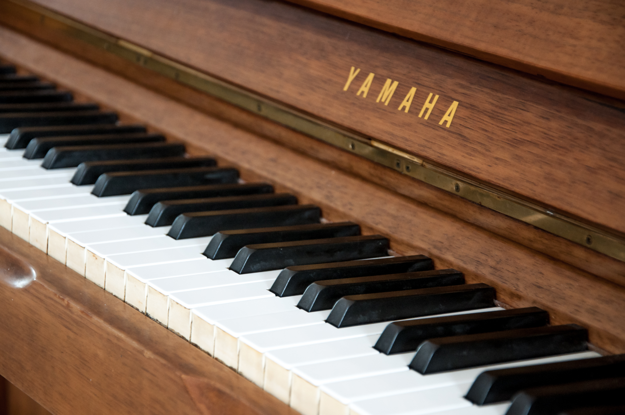 Wooden vintage piano photo
