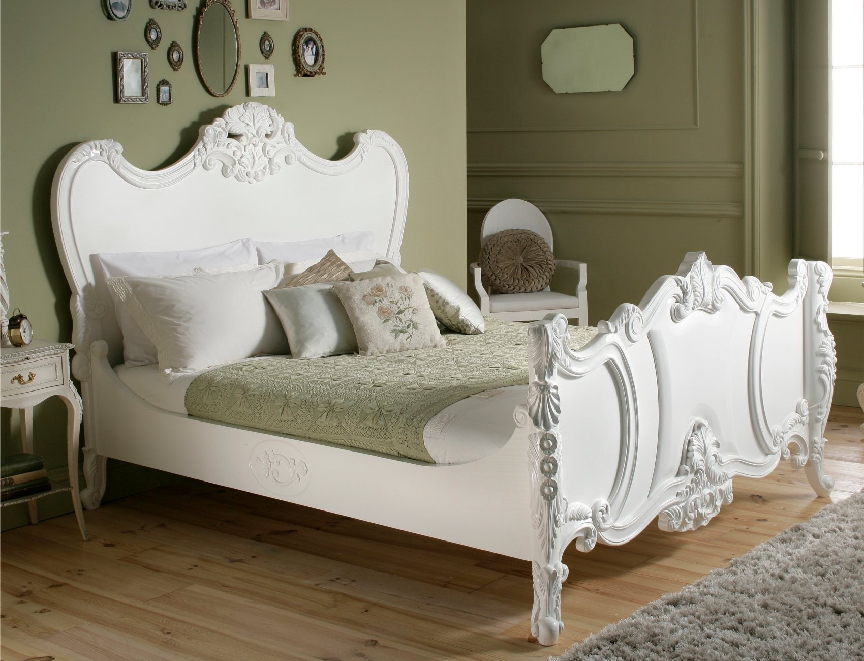 Loire French Style White Wooden Bed by Sleep Sanctuary | DESIGN ...