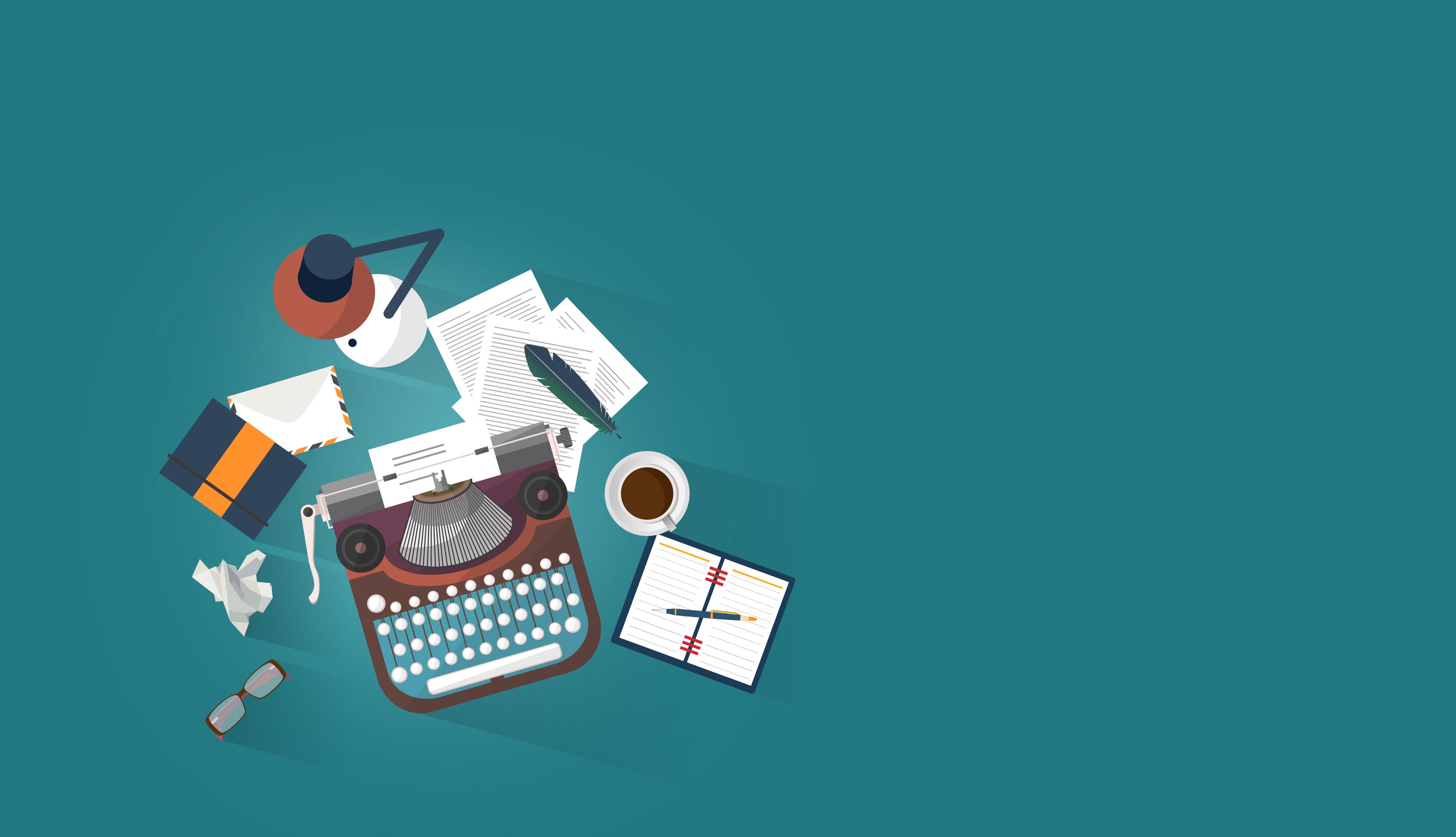 Work Desk - Writer - Author - Creative Writing Concept, Alphabet, Print, Sheet, Set, HQ Photo