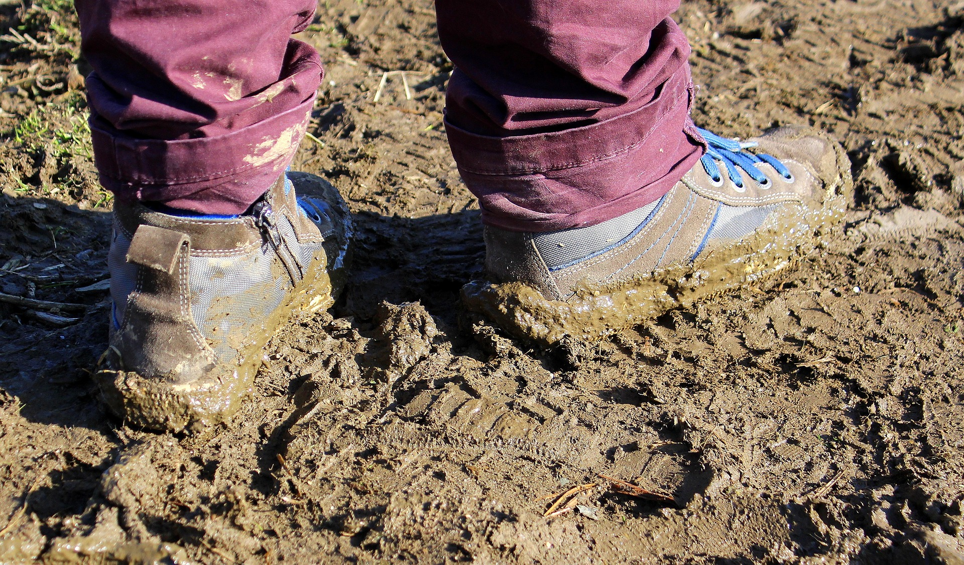 Work in the mud photo
