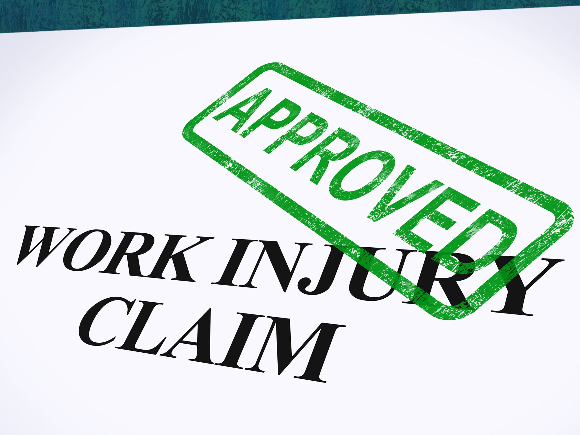 Work injury claim approved shows medical expenses repaid photo